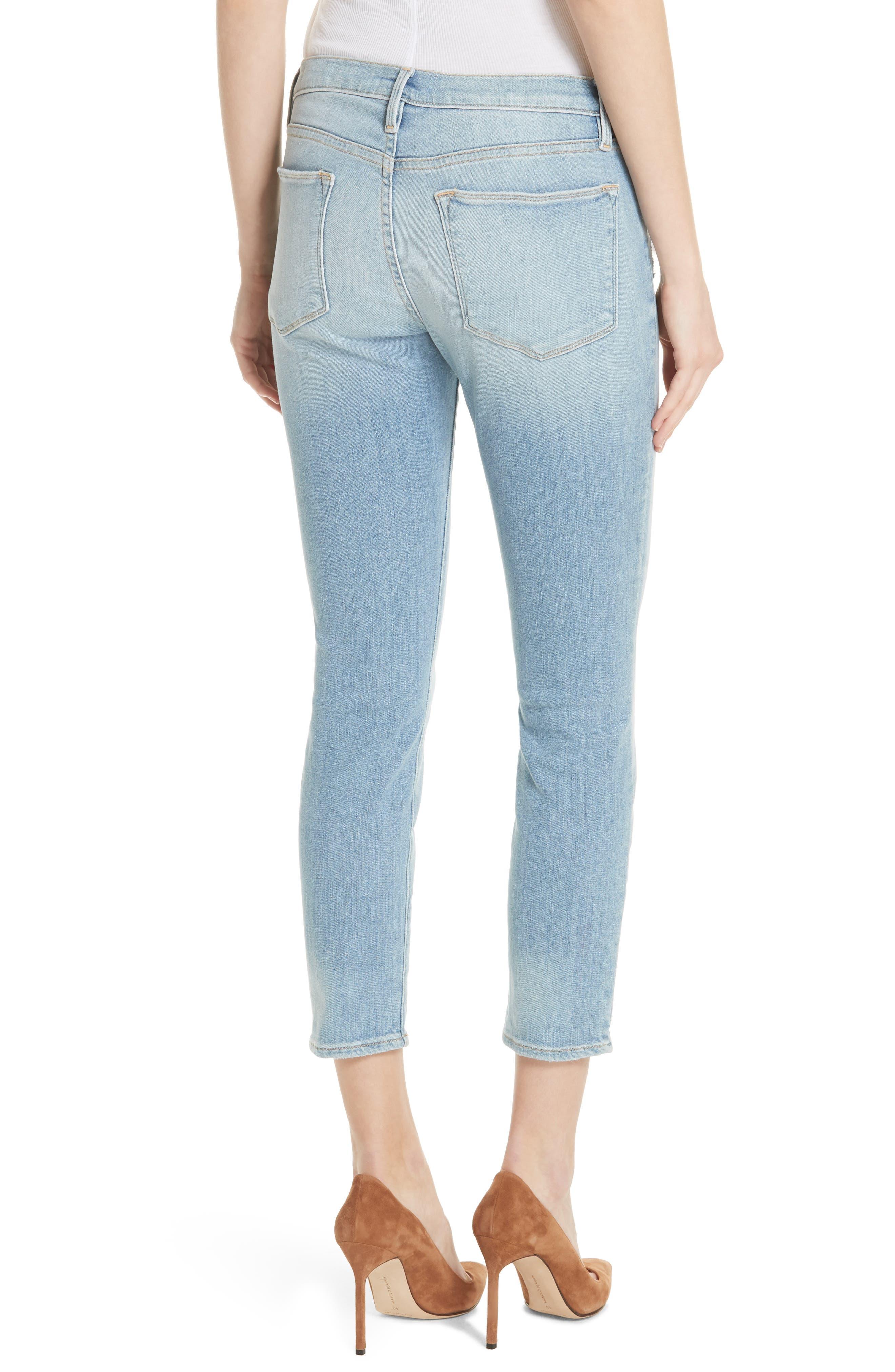 Le High Skinny Jeans,                             Alternate thumbnail 2, color,                             450