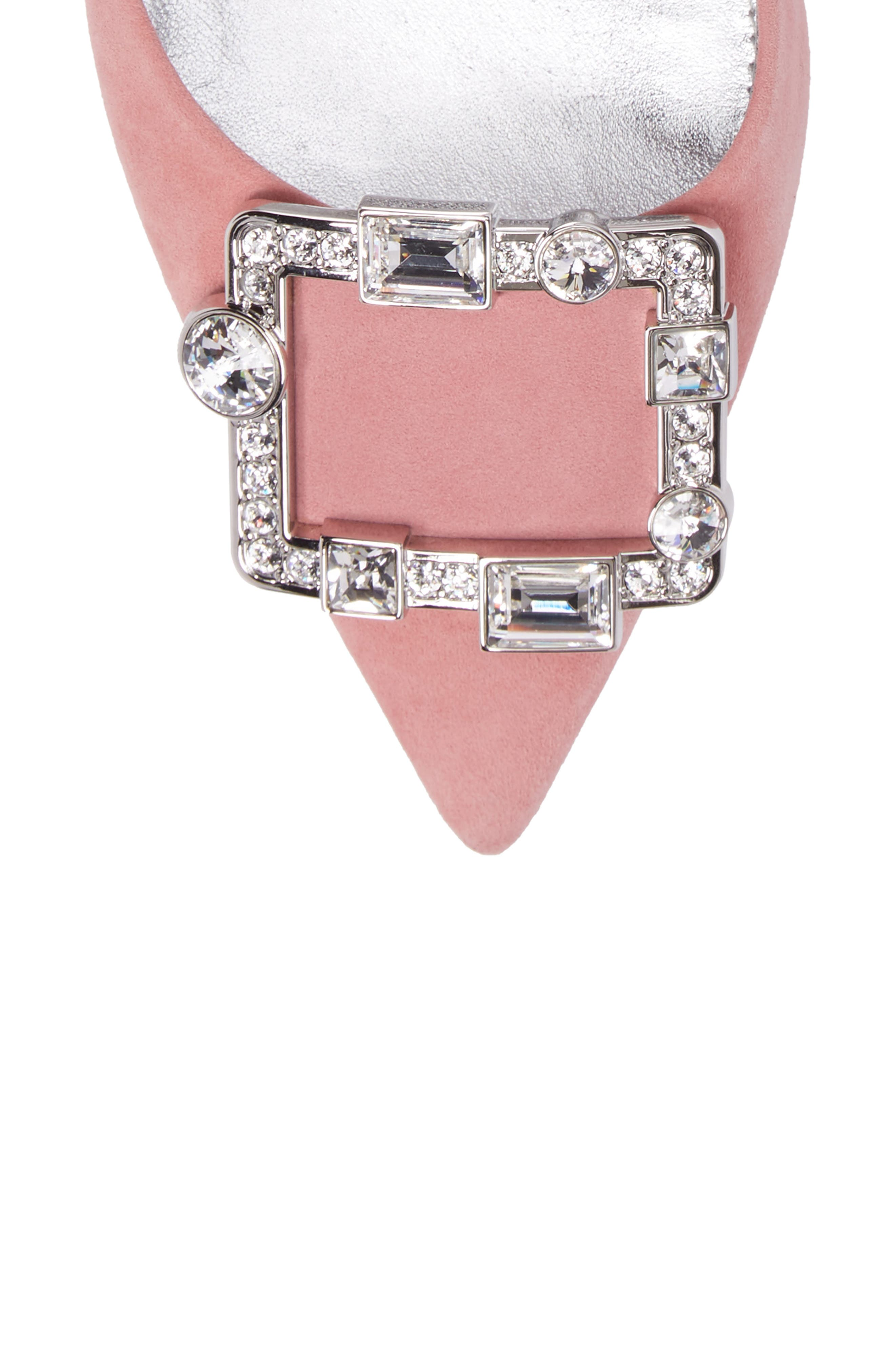 Crystal Brooch Ankle Strap Pump,                             Alternate thumbnail 5, color,                             669