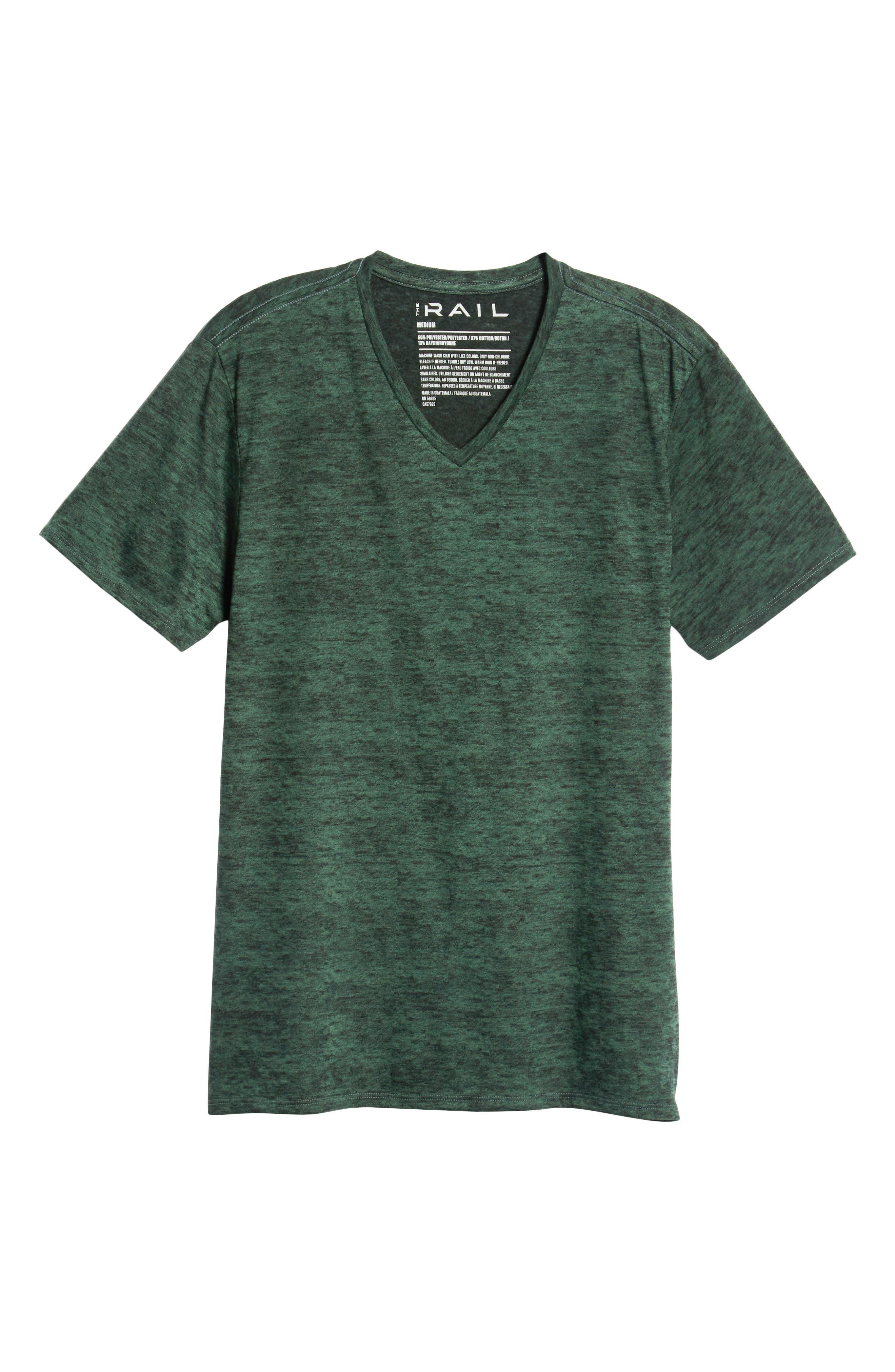 THE RAIL,                             Burnout V-Neck T-Shirt,                             Alternate thumbnail 6, color,                             311