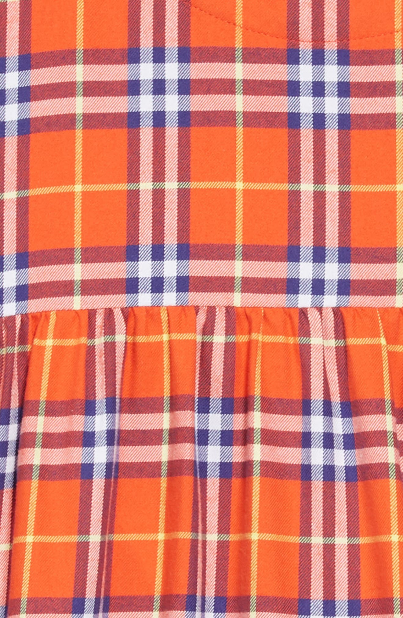 Alima Check Dress,                             Alternate thumbnail 3, color,                             ORANGE RED CHECK