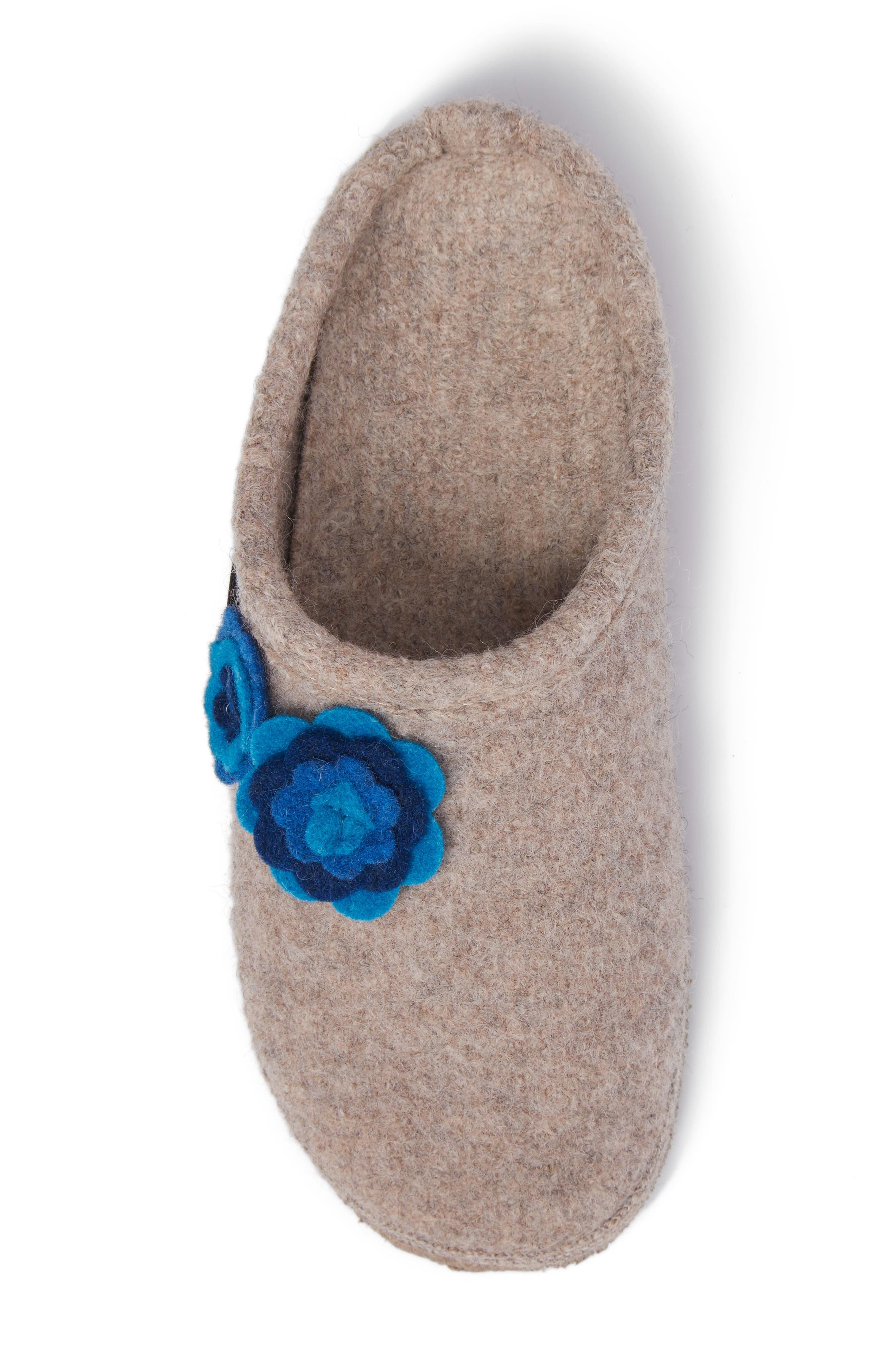 Georgie Indoor Boiled Wool Slipper,                             Alternate thumbnail 5, color,                             NATURAL WOOL