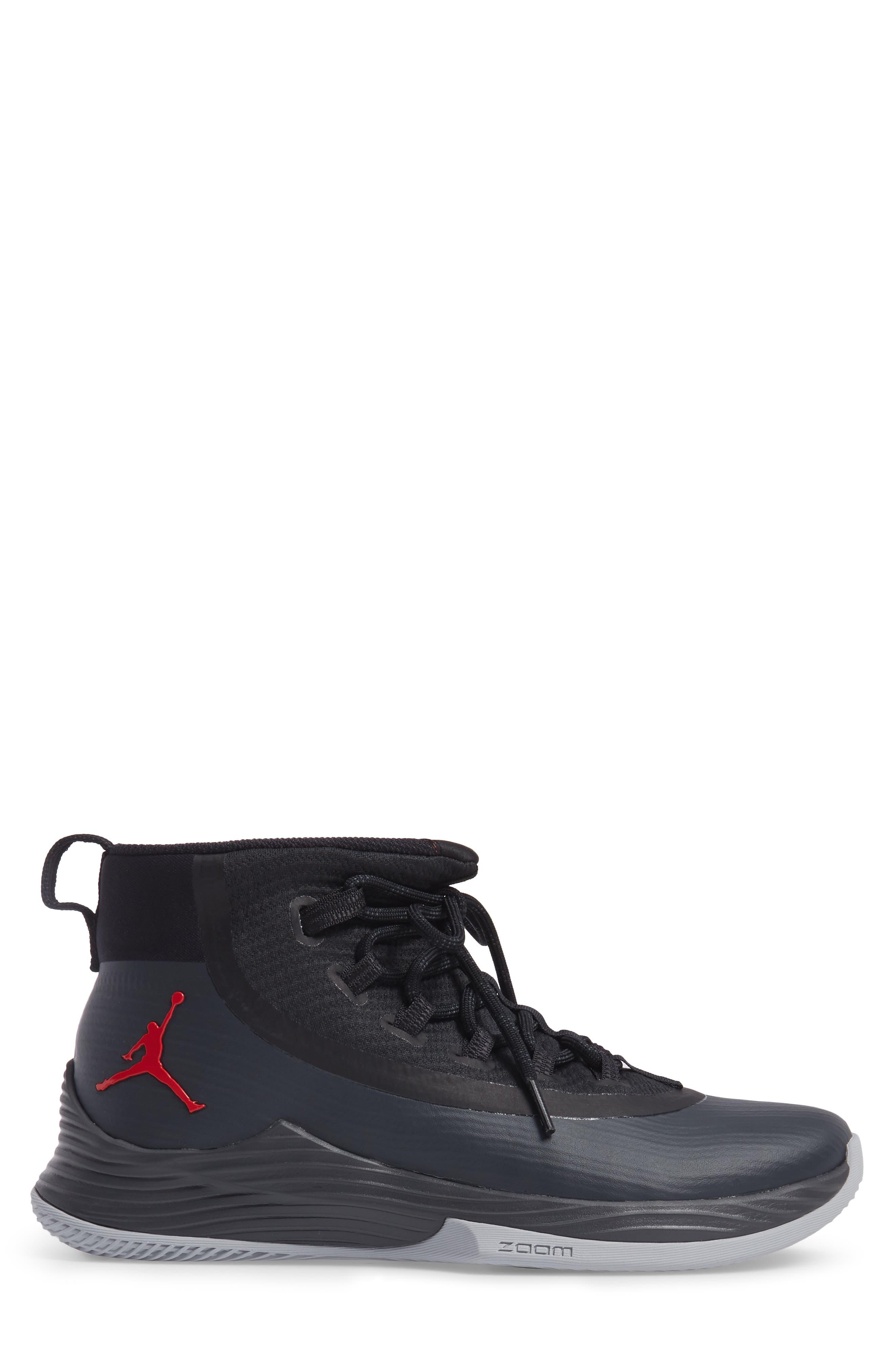 Jordan Ultra Fly 2 Basketball Shoe,                             Alternate thumbnail 3, color,                             002