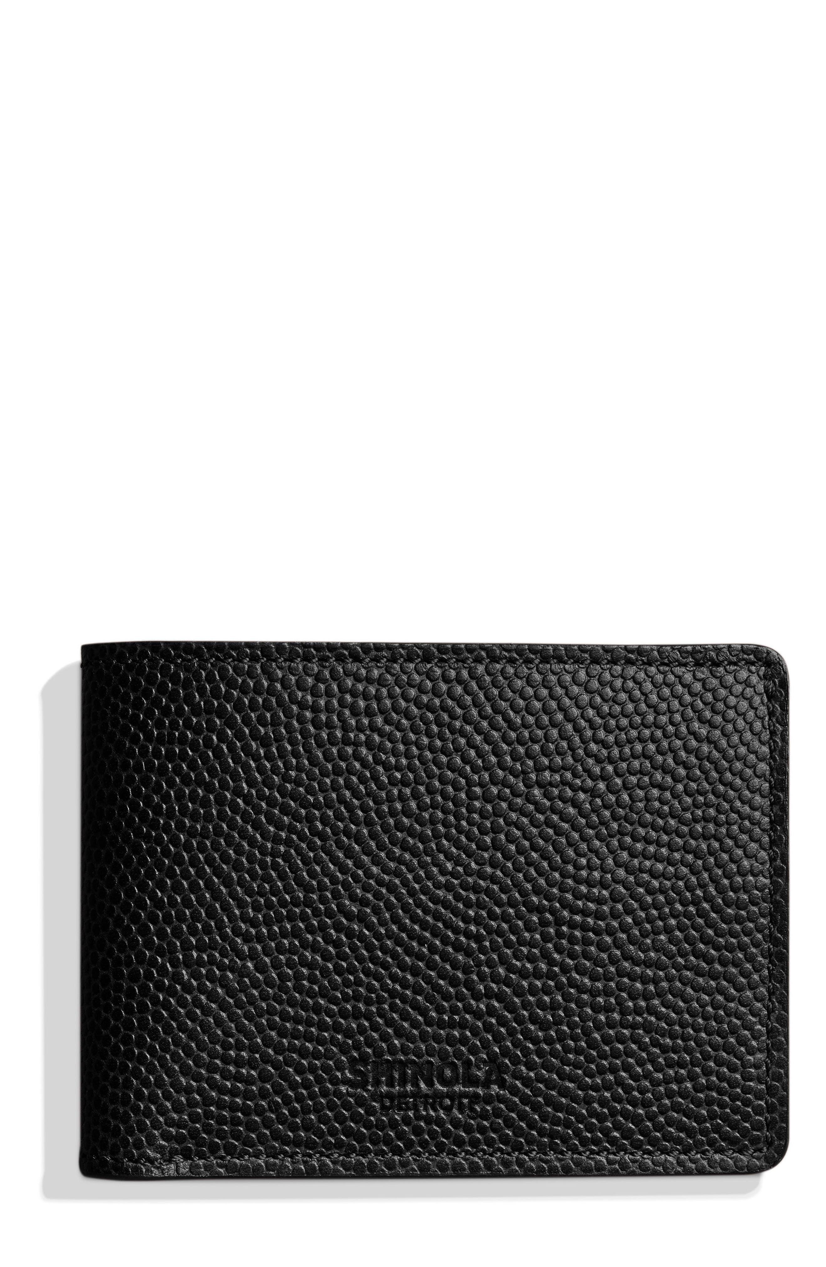 Slim Bifold 2.0 Leather Wallet,                             Main thumbnail 1, color,                             BLACK