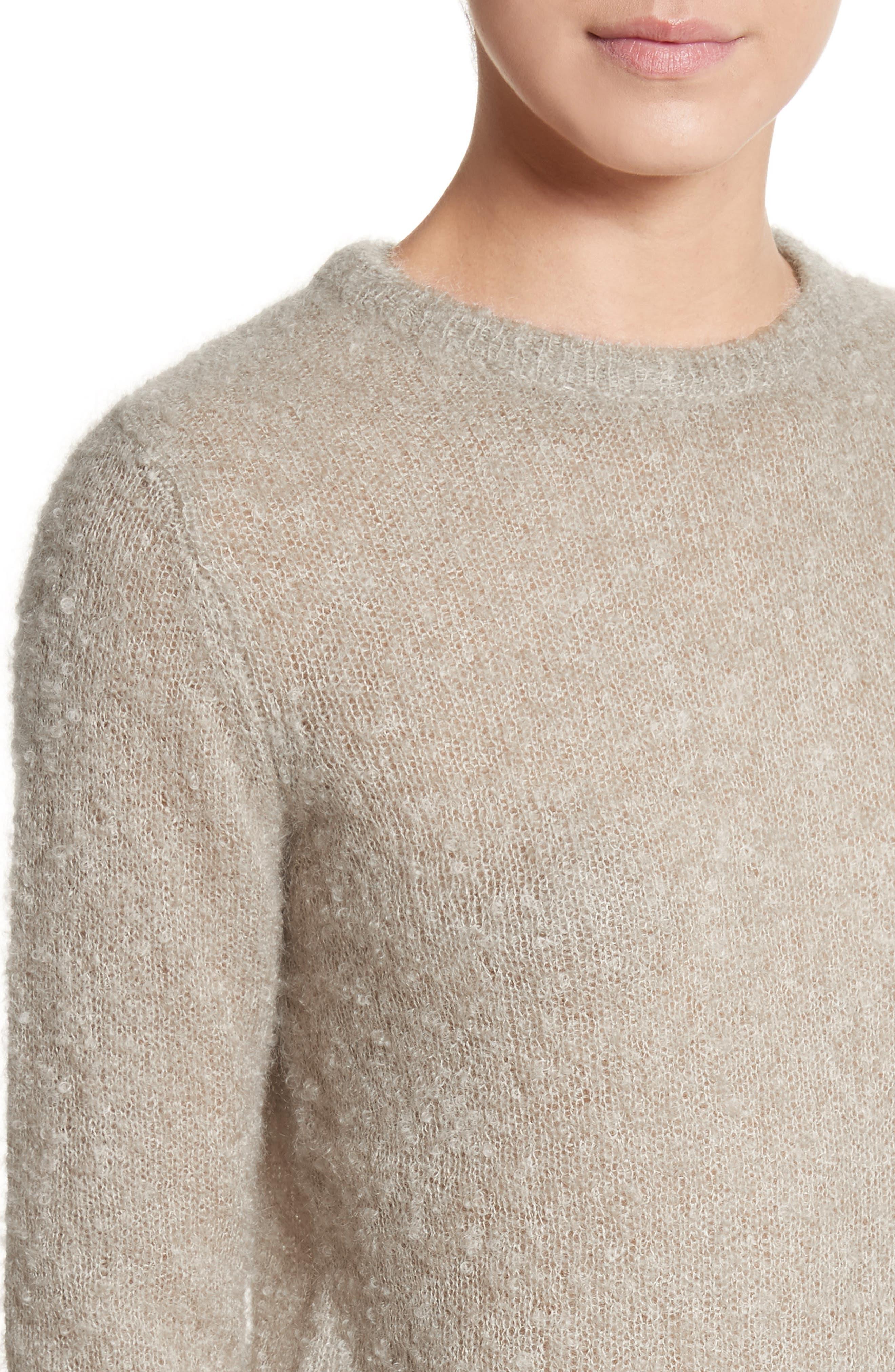 Tatum Mohair & Silk Sweater,                             Alternate thumbnail 4, color,                             020