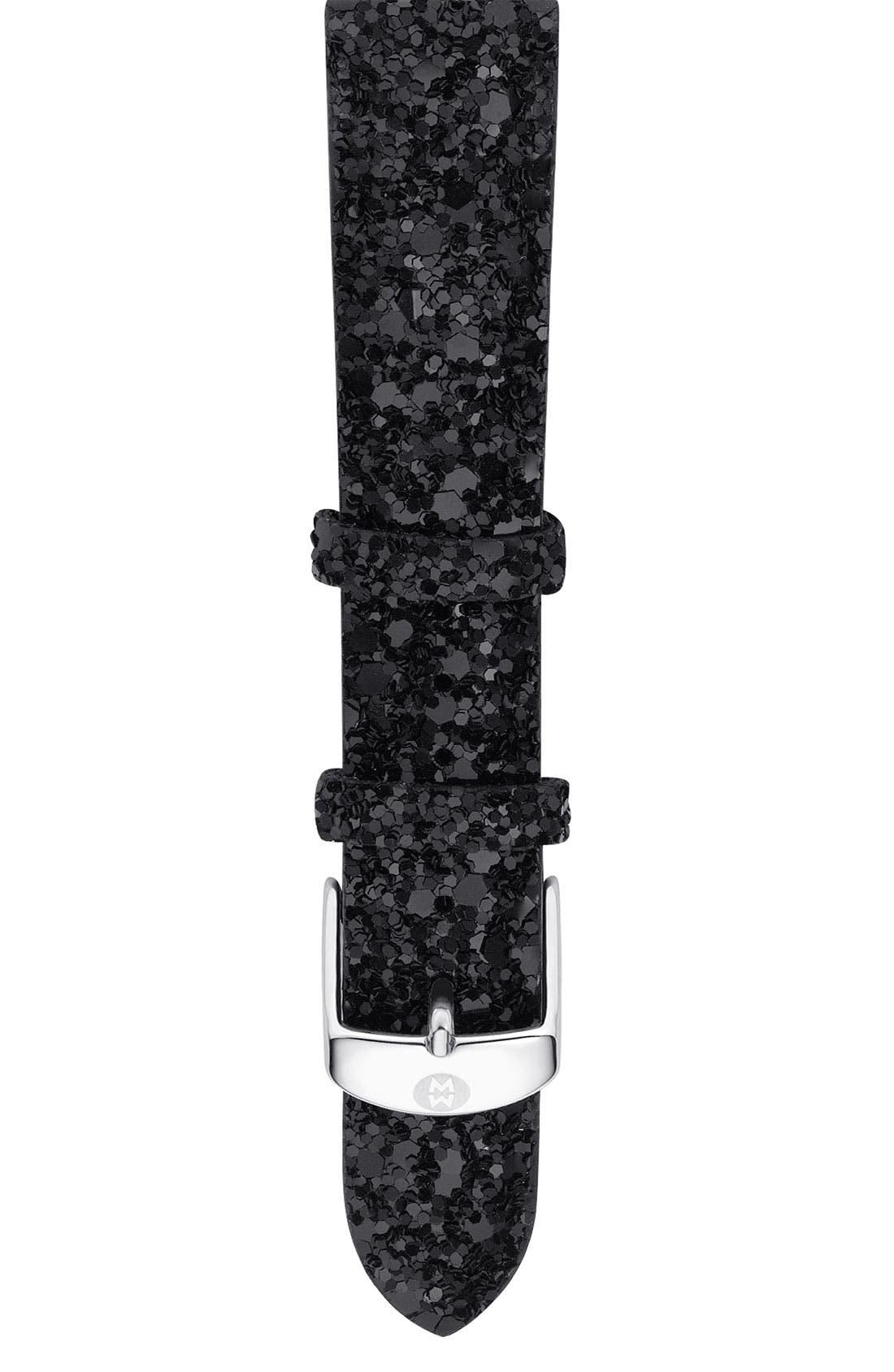 MICHELE 'Deco Noir' Diamond Customizable Watch, Main, color, 001