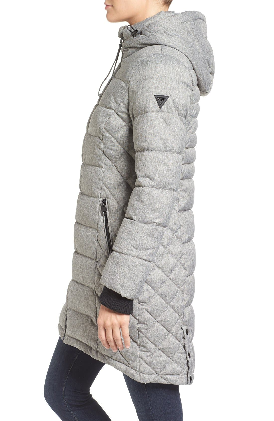 Quilted Hooded Puffer Coat,                             Alternate thumbnail 8, color,