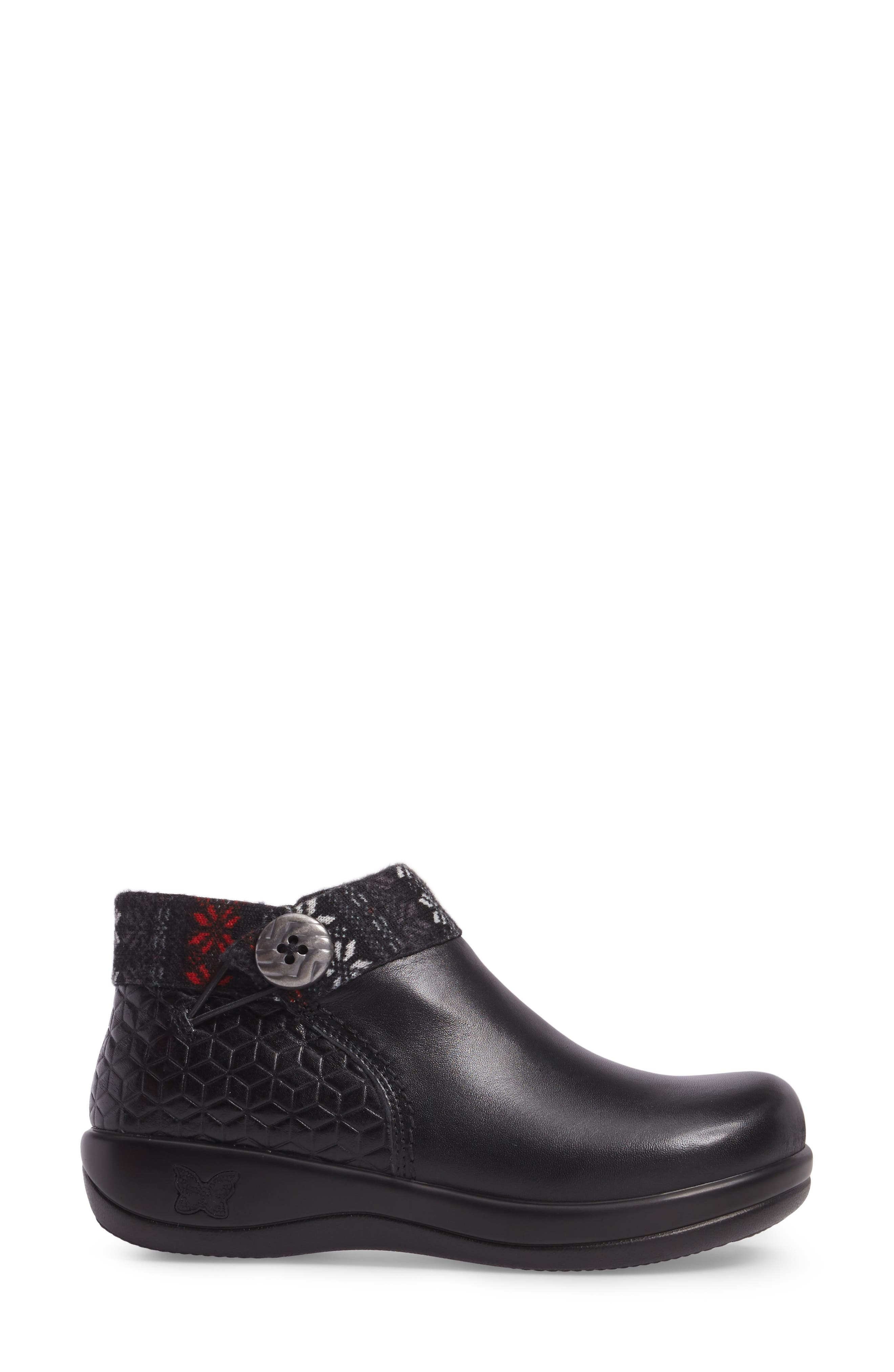 Sitka Knit Collar Bootie,                             Alternate thumbnail 3, color,                             002