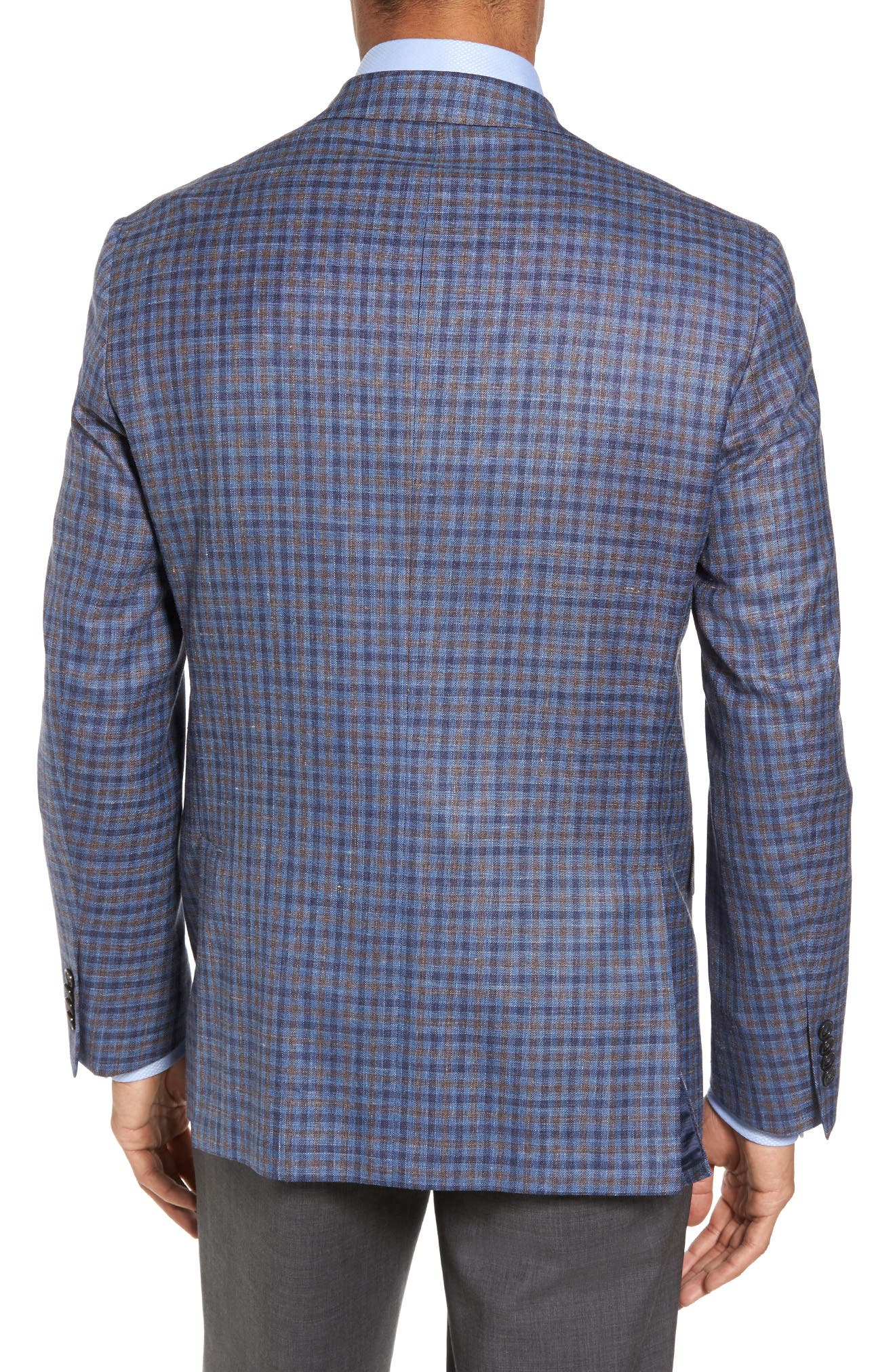 Ashton Classic Fit Stretch Check Wool Blend Sport Coat,                             Alternate thumbnail 2, color,