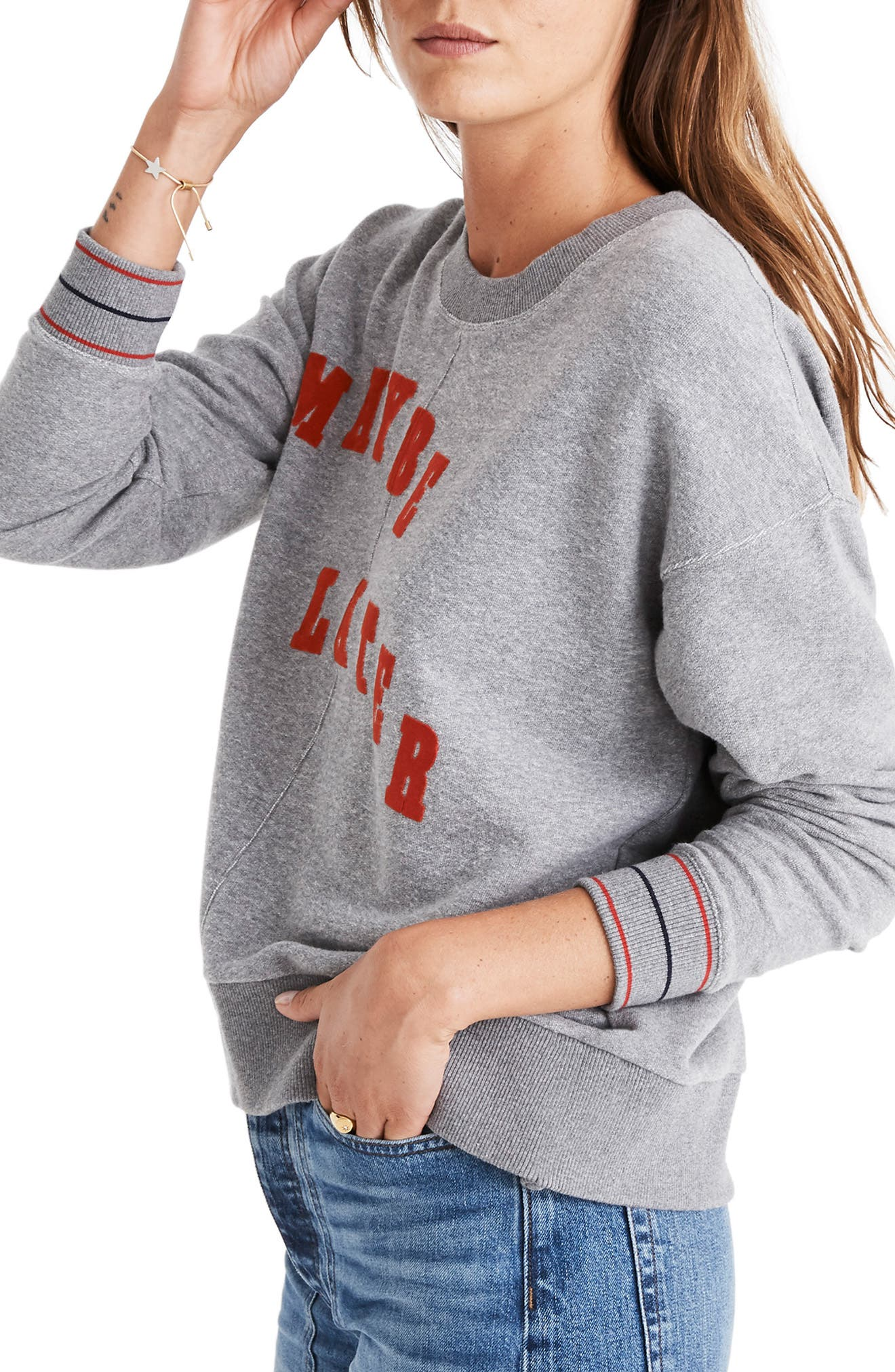 Maybe Later Mainstay Sweatshirt,                             Alternate thumbnail 3, color,                             020
