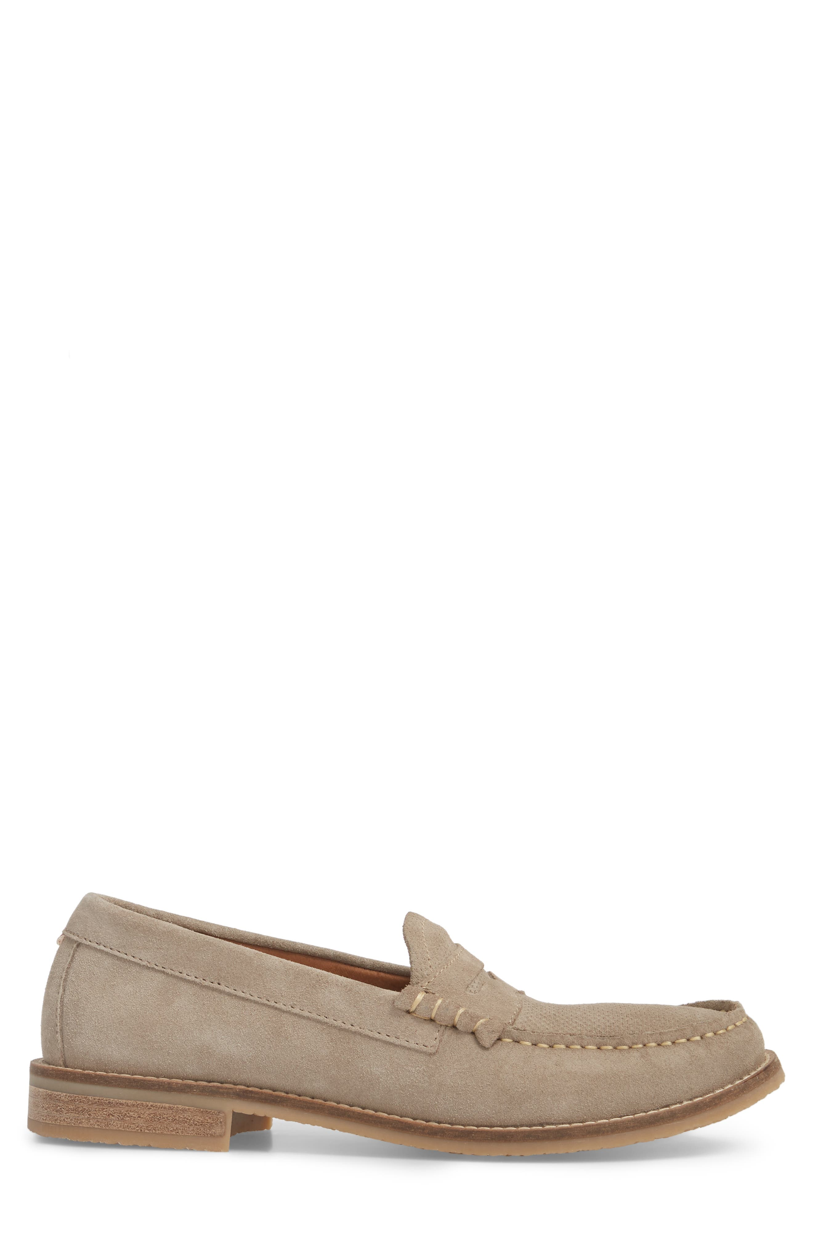 Wayne Textured Penny Loafer,                             Alternate thumbnail 3, color,                             EARTH BEIGE
