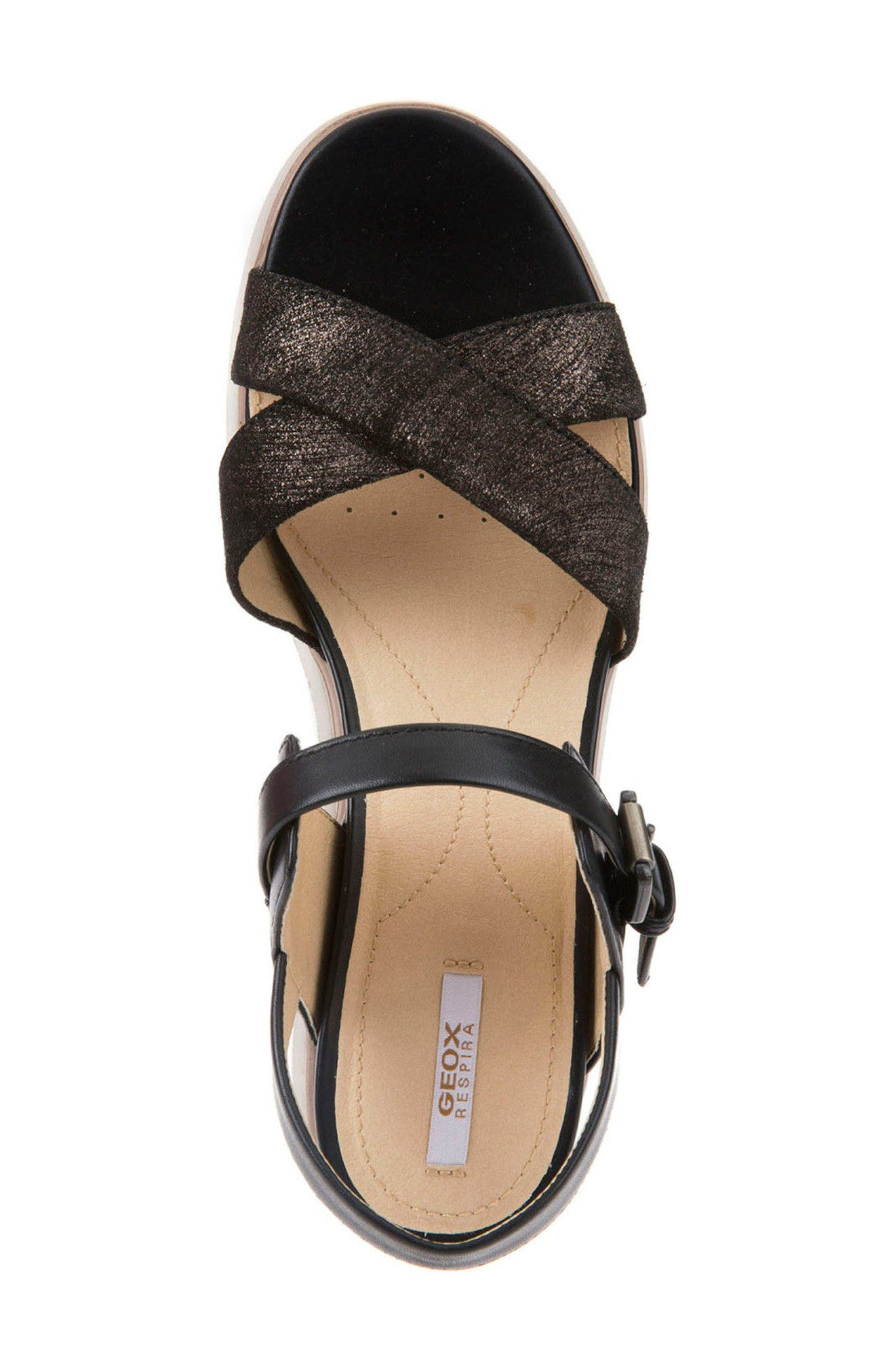 Radwa Platform Sandal,                             Alternate thumbnail 4, color,                             001