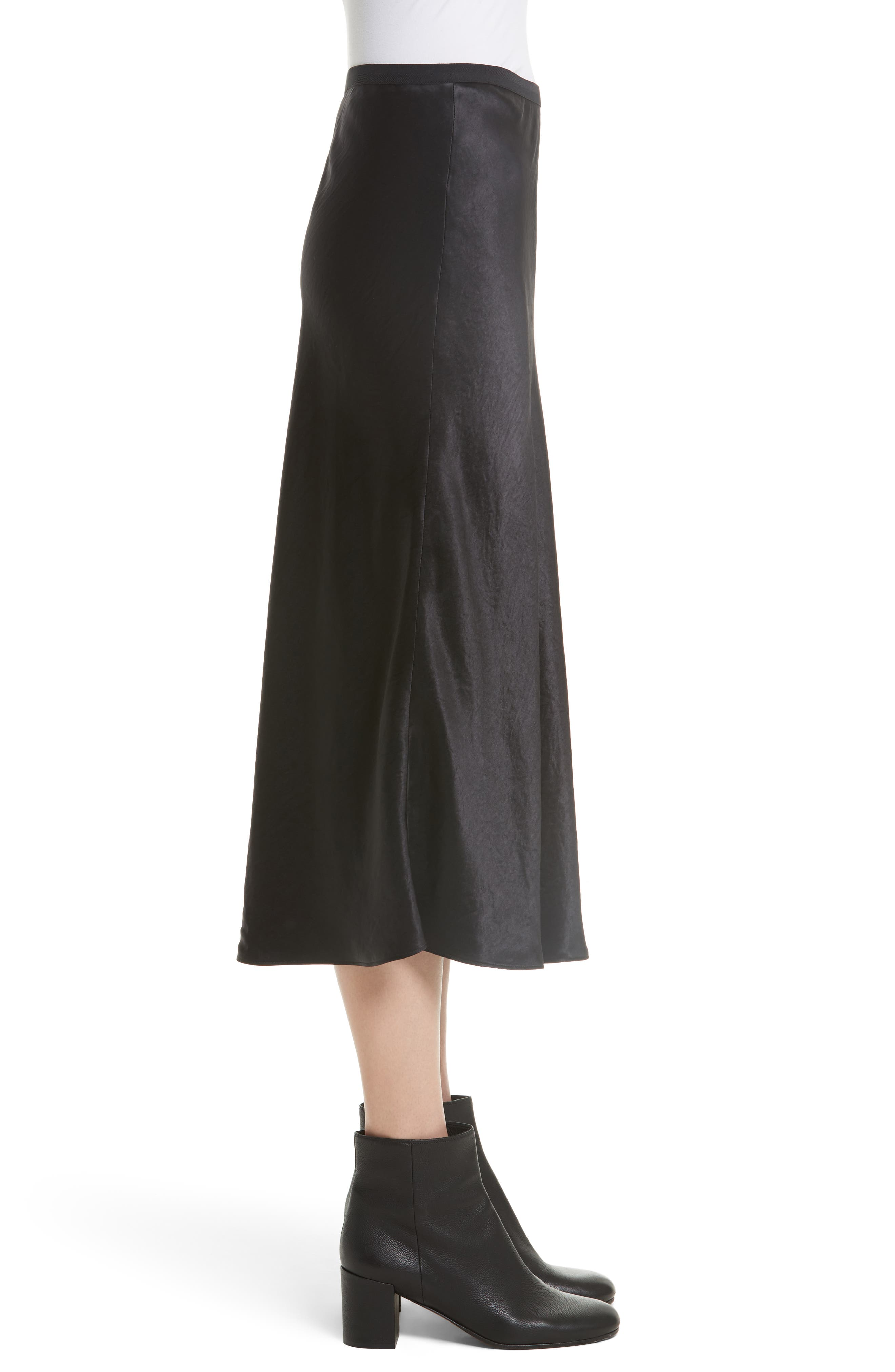 Elastic Waist Slip Skirt,                             Alternate thumbnail 3, color,                             001