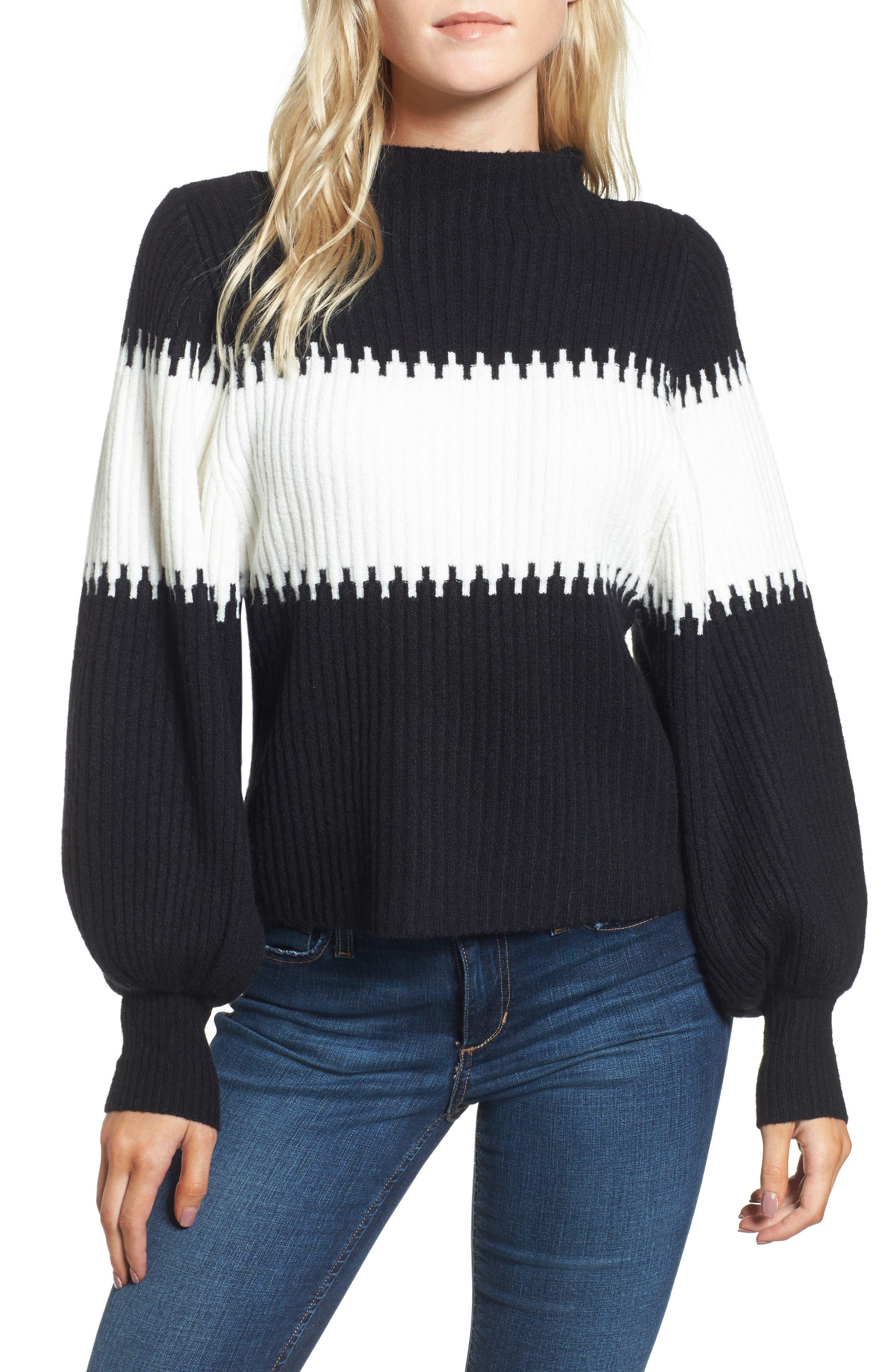Sofia Puff Sleeve Sweater, Main, color, 001
