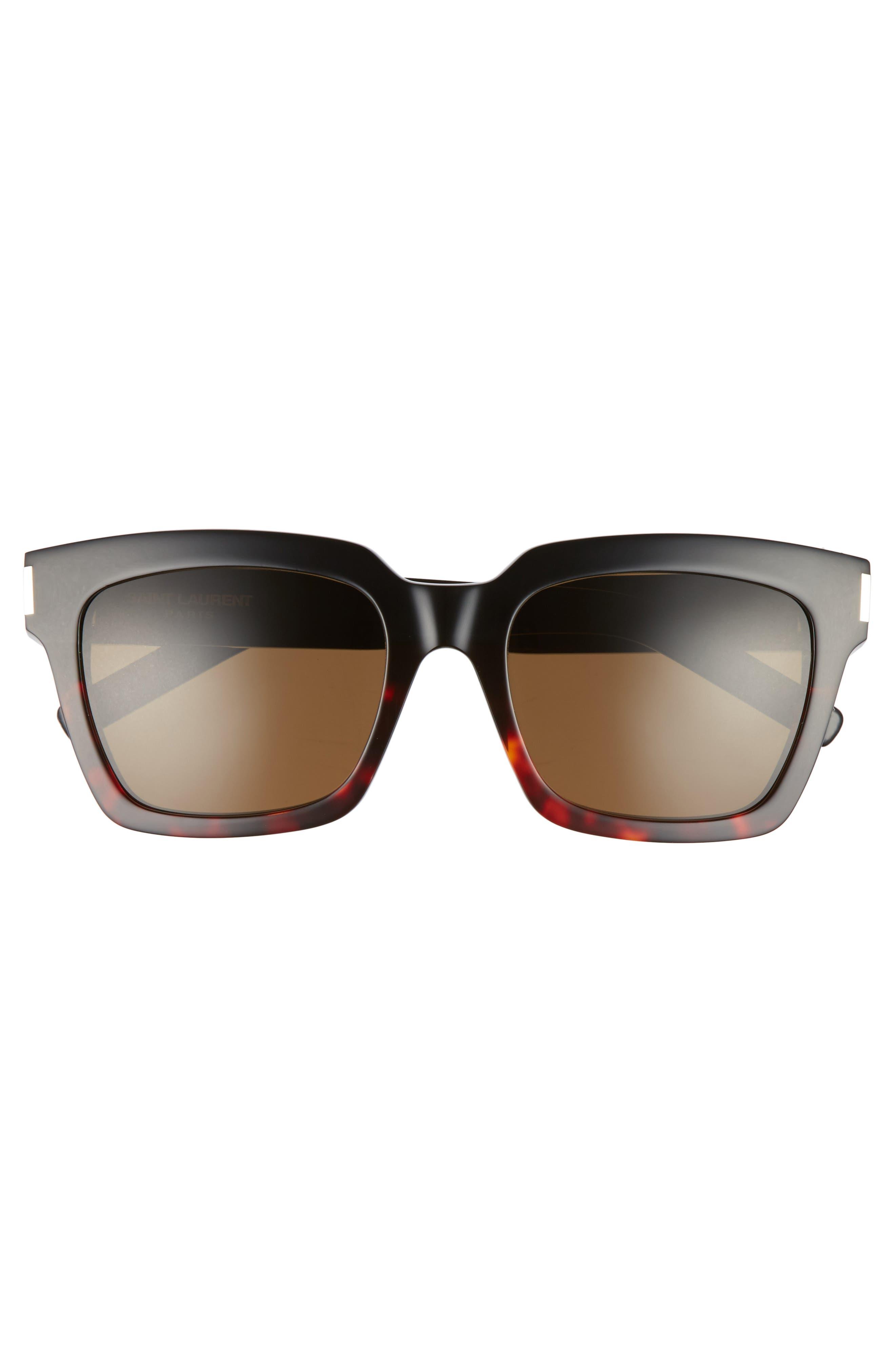 Bold 1 54mm Square Sunglasses,                             Alternate thumbnail 3, color,                             001