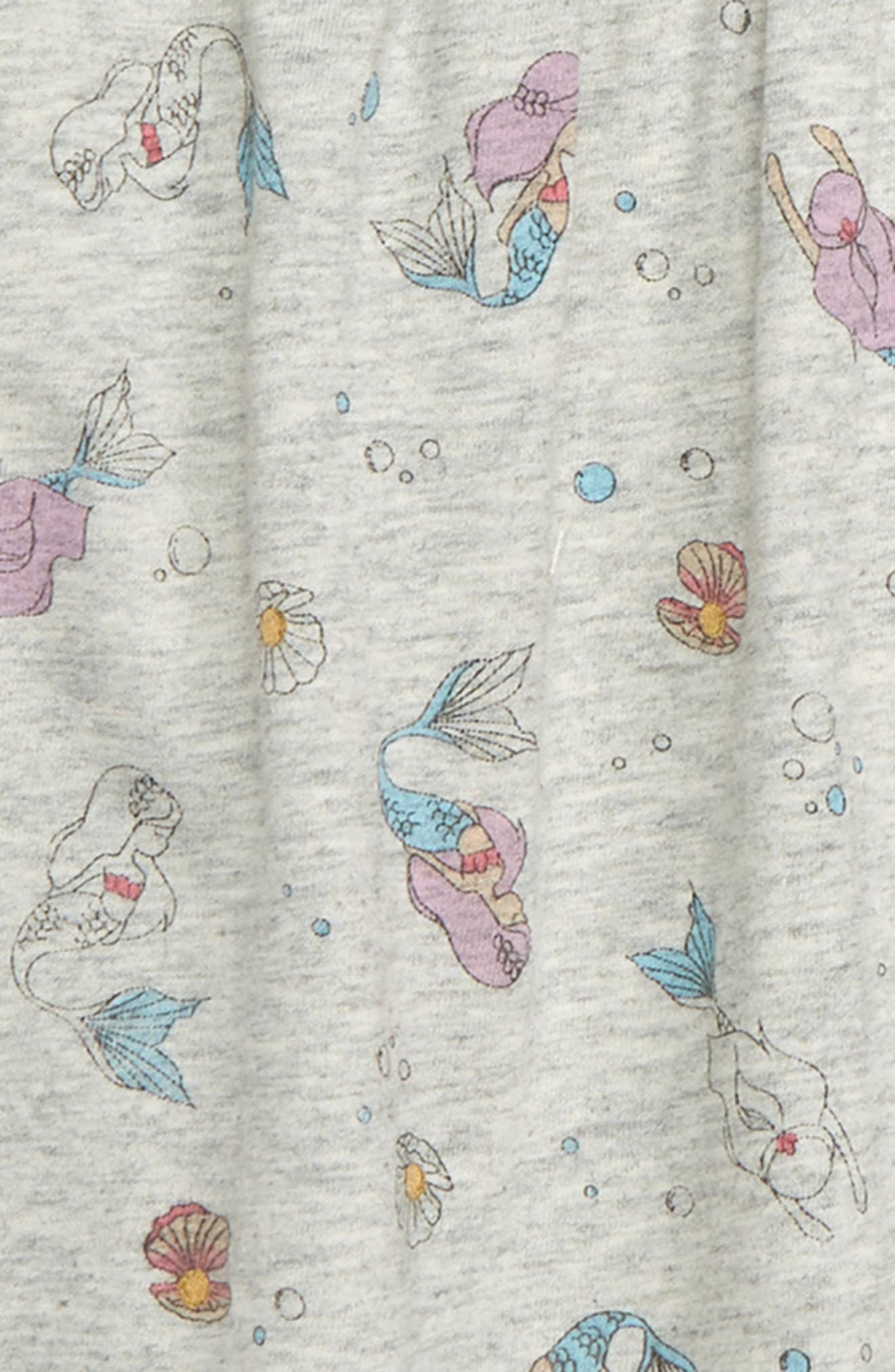 PEEK ESSENTIALS,                             Baby Mermaid Coveralls,                             Alternate thumbnail 2, color,                             HEATHER GREY