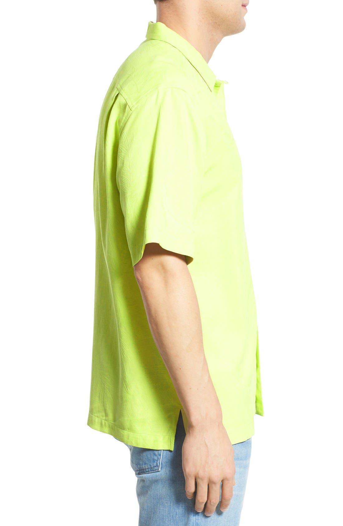 Rio Fronds Short Sleeve Silk Sport Shirt,                             Alternate thumbnail 37, color,