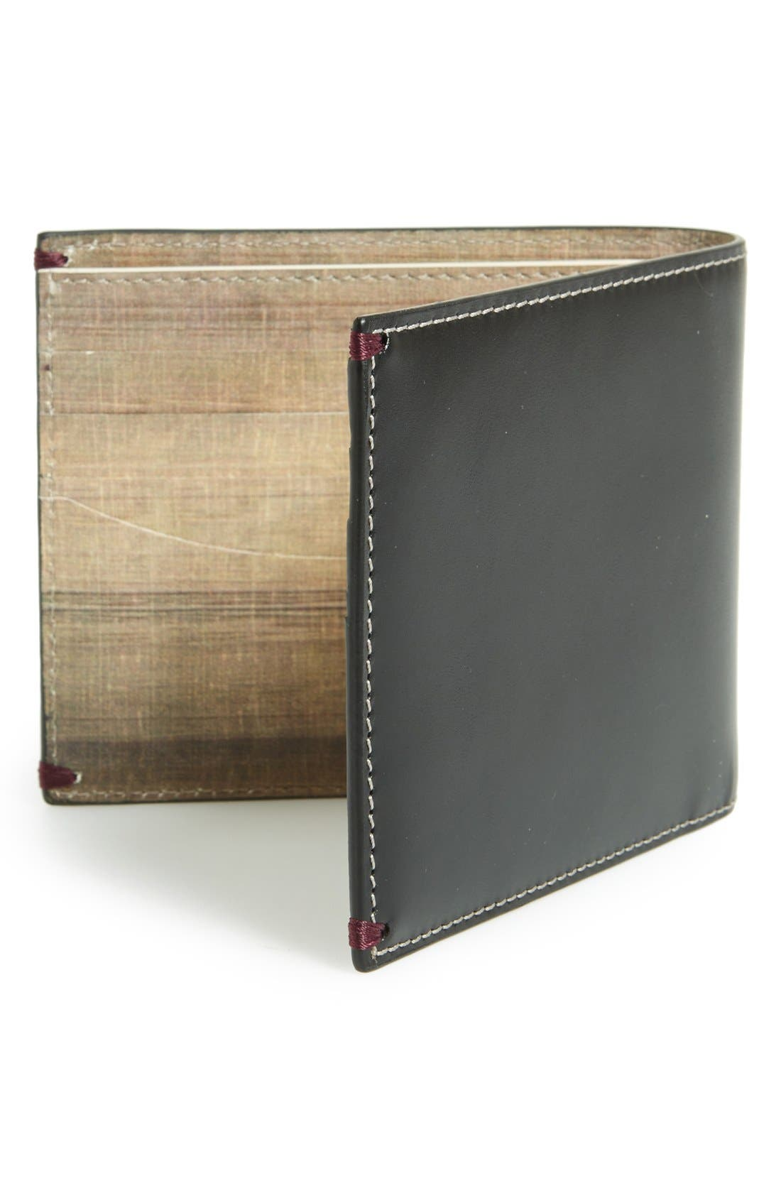 PAUL SMITH,                             'Mini Through Door' Billfold Wallet,                             Alternate thumbnail 3, color,                             001