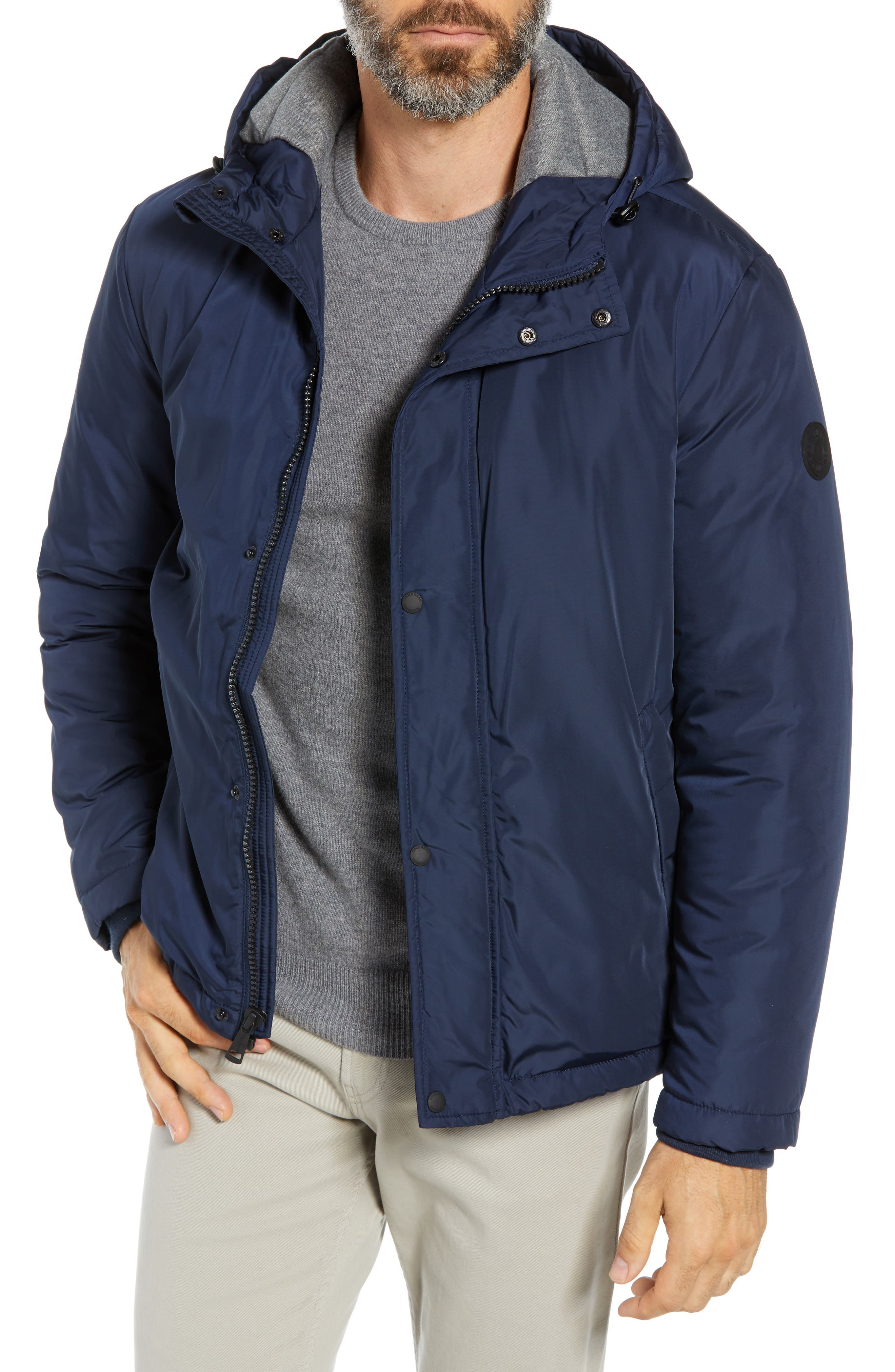 Cole Haan Water Resistant Insulated Jacket, Blue