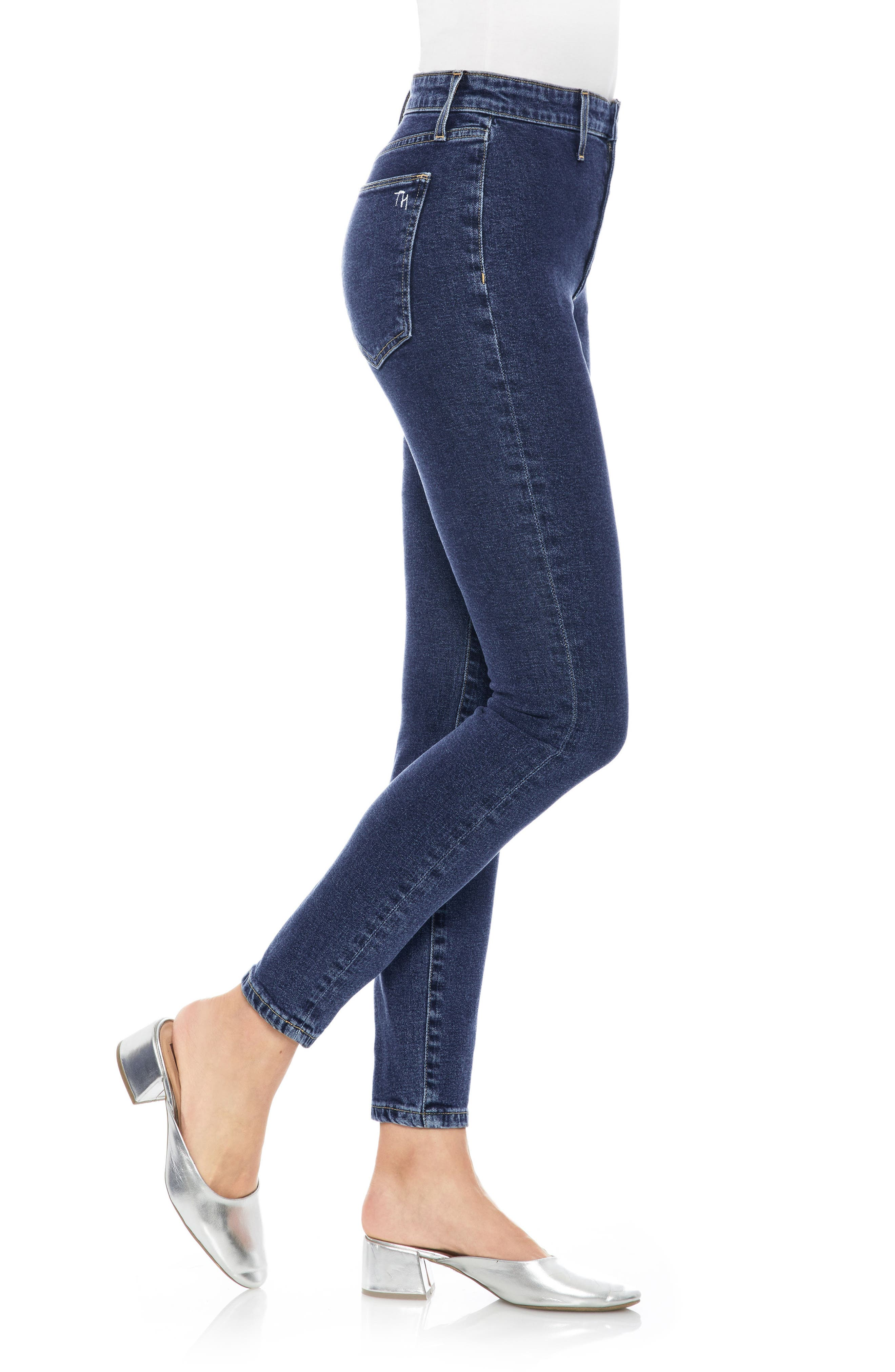 Charlie High Waist Ankle Skinny Jeans,                             Alternate thumbnail 3, color,                             400
