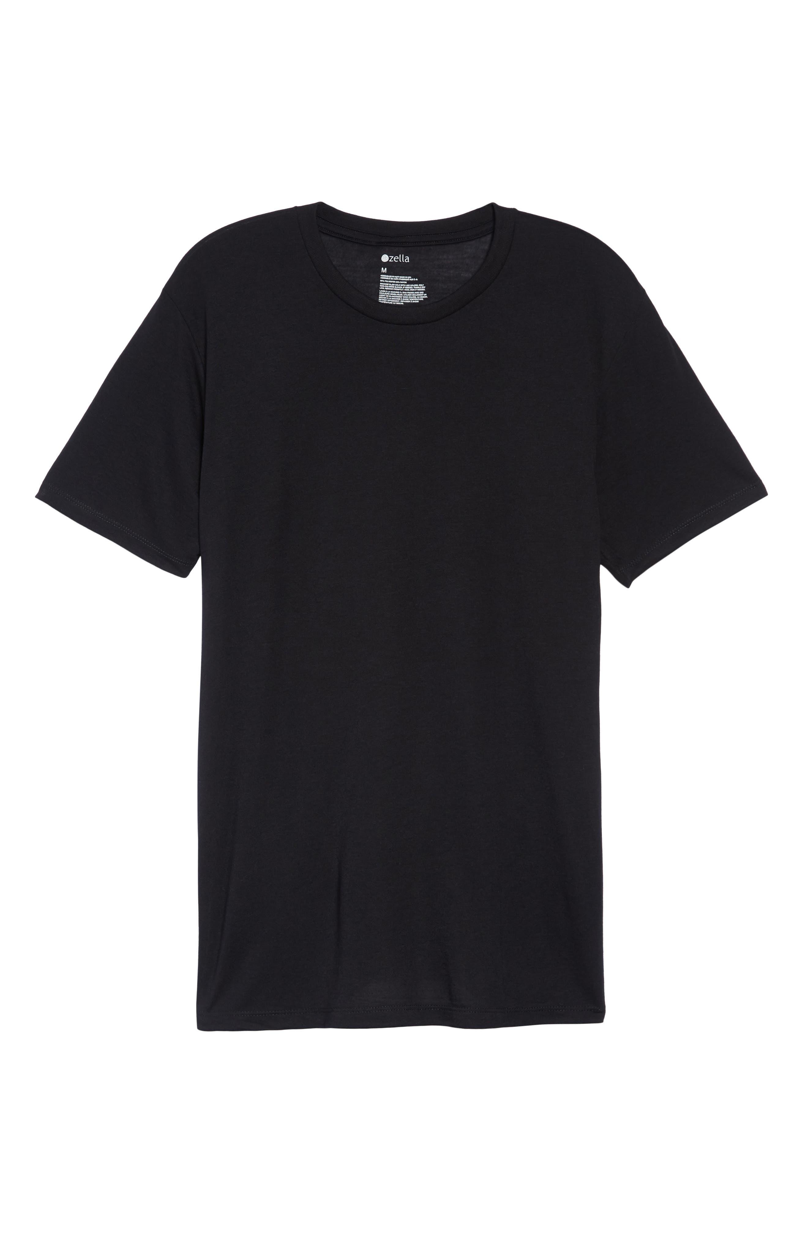 Active Crewneck T-Shirt,                             Alternate thumbnail 6, color,                             BLACK