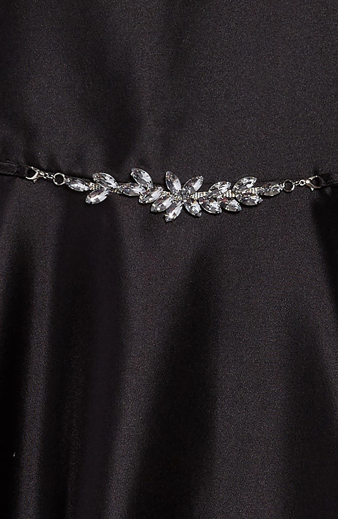Bow Back Party Dress,                             Alternate thumbnail 3, color,                             001