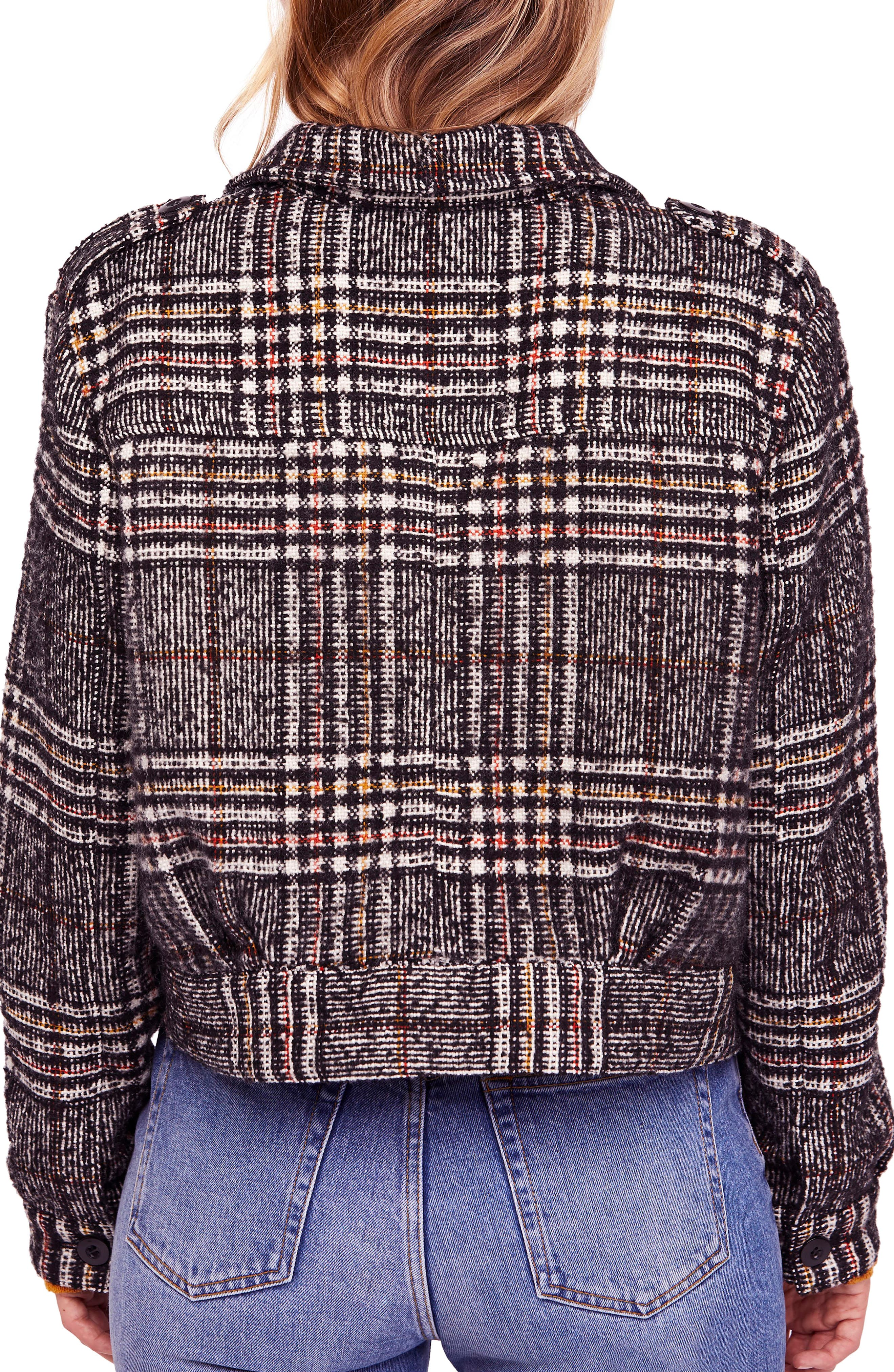 FREE PEOPLE,                             Eisenhower Slouchy Jacket,                             Alternate thumbnail 2, color,                             019