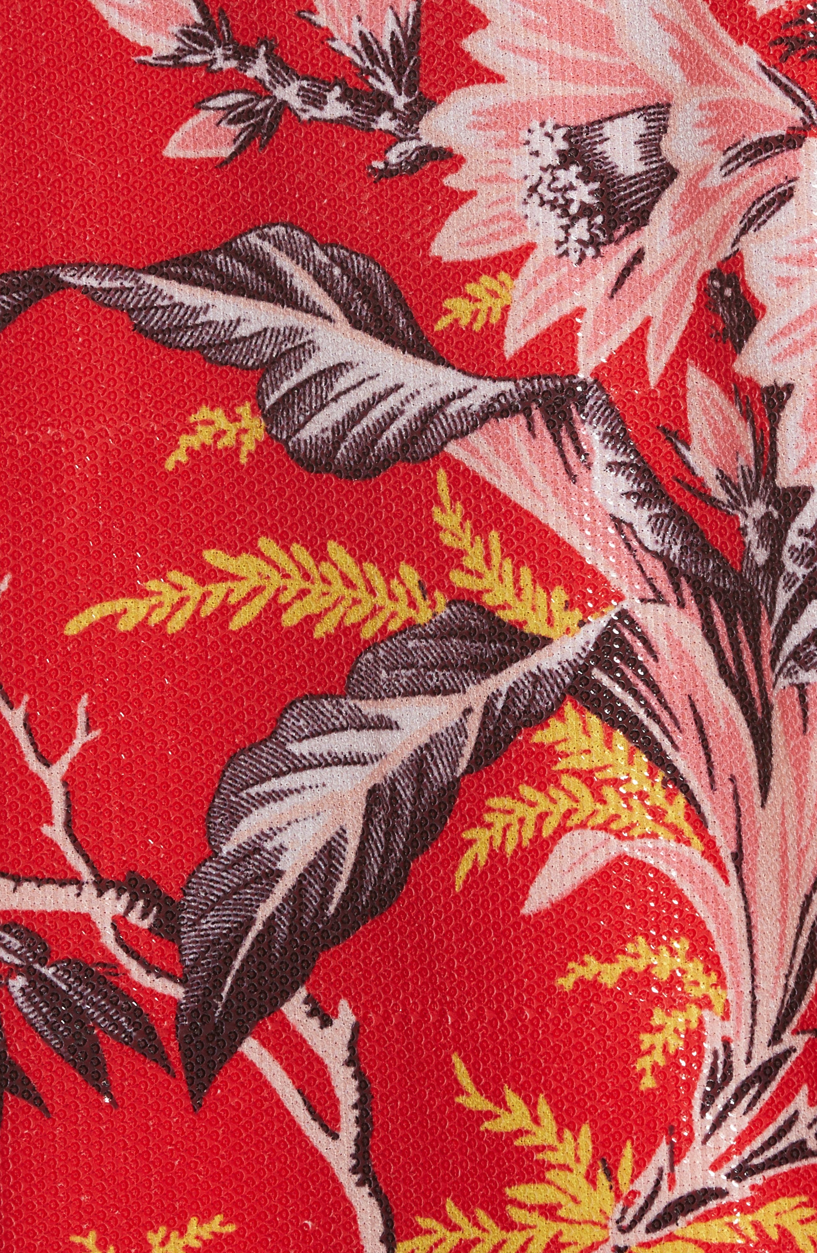 Diane von Furstenberg Fluid Sequin Minidress,                             Alternate thumbnail 5, color,                             603