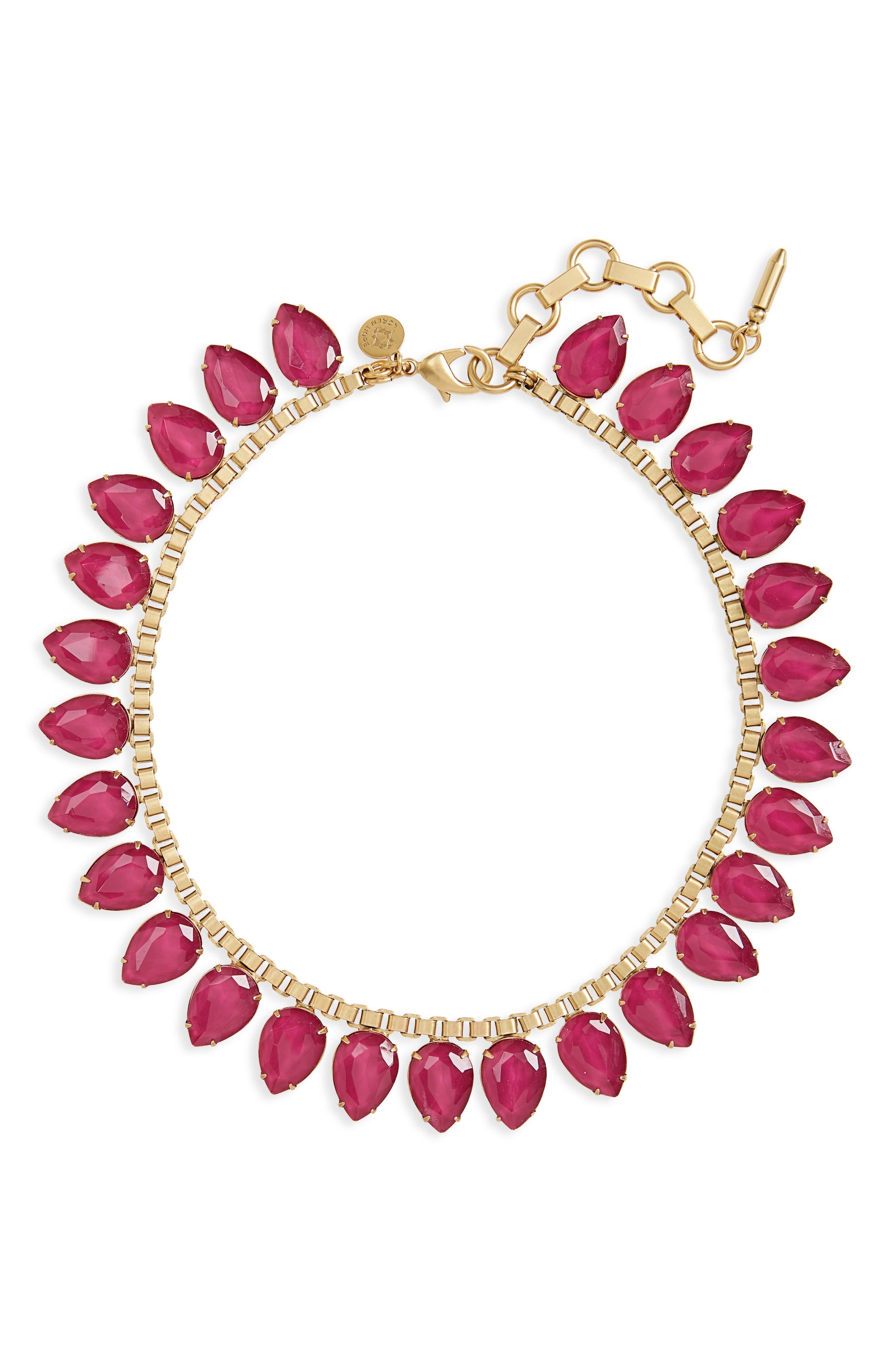 'Sylvia' Crystal Collar Necklace,                             Main thumbnail 8, color,