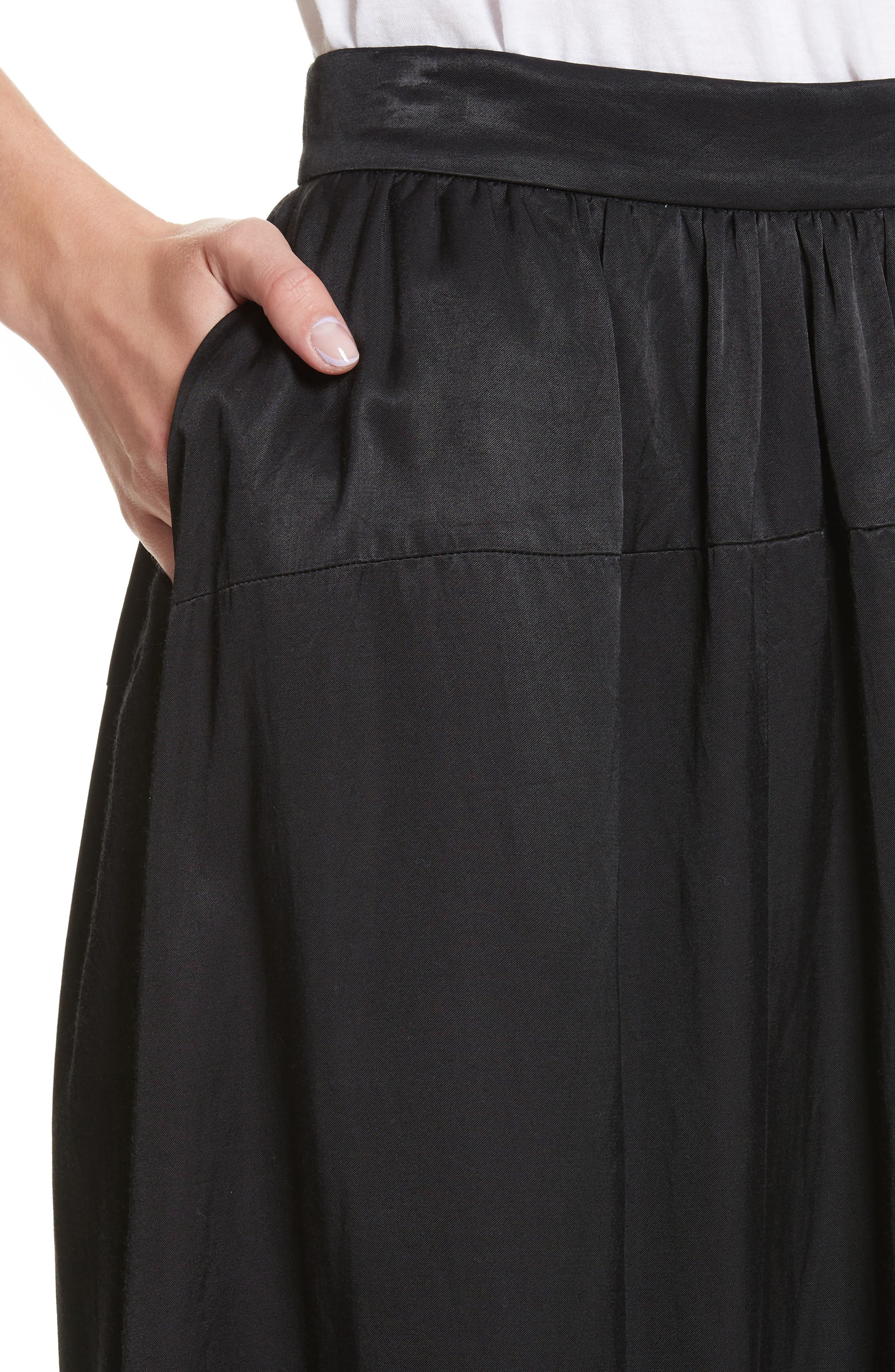 Yes Ribbon Maxi Skirt,                             Alternate thumbnail 4, color,