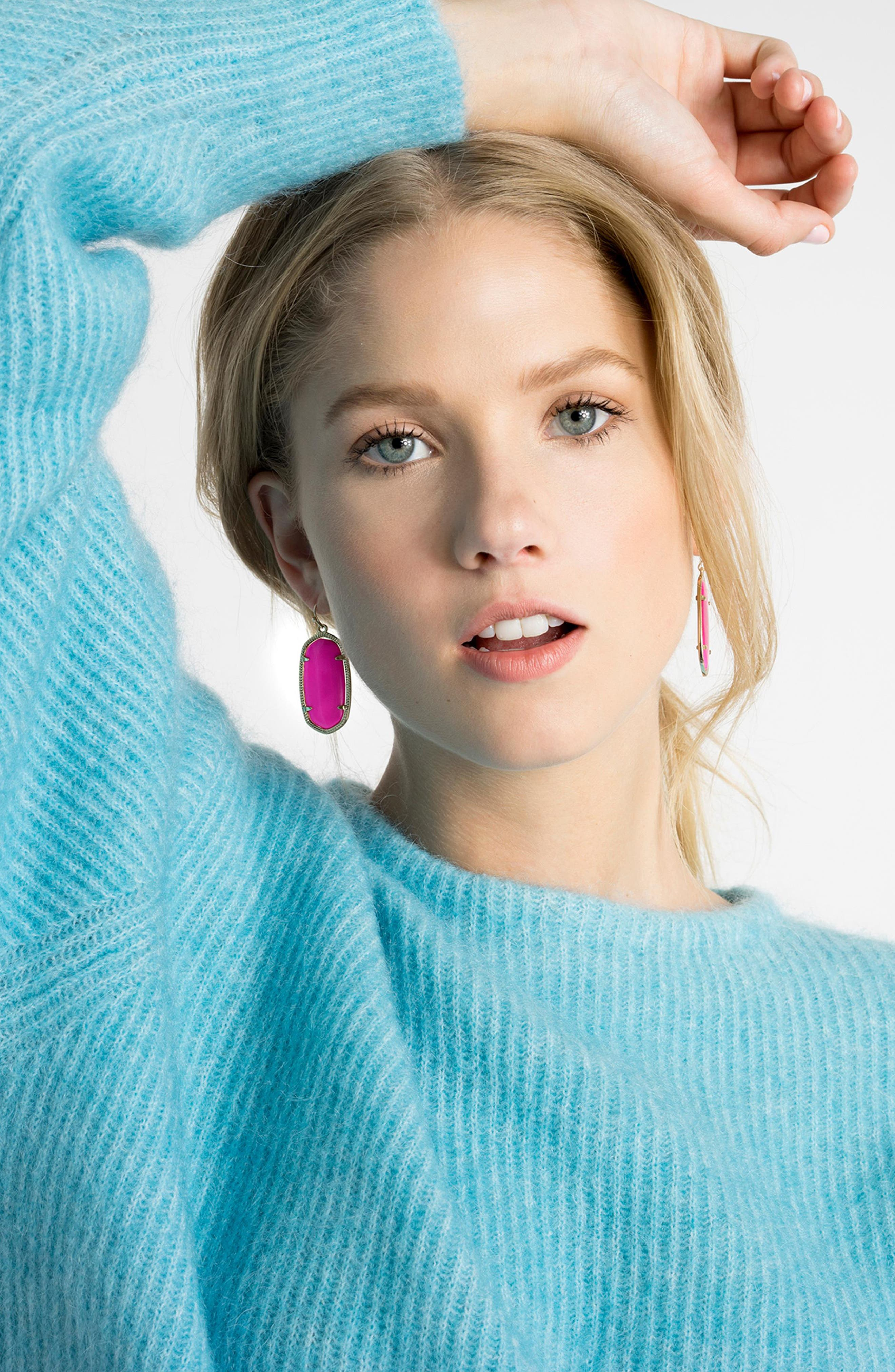 Elle Filigree Drop Earrings,                             Alternate thumbnail 2, color,                             MAGENTA/ GOLD