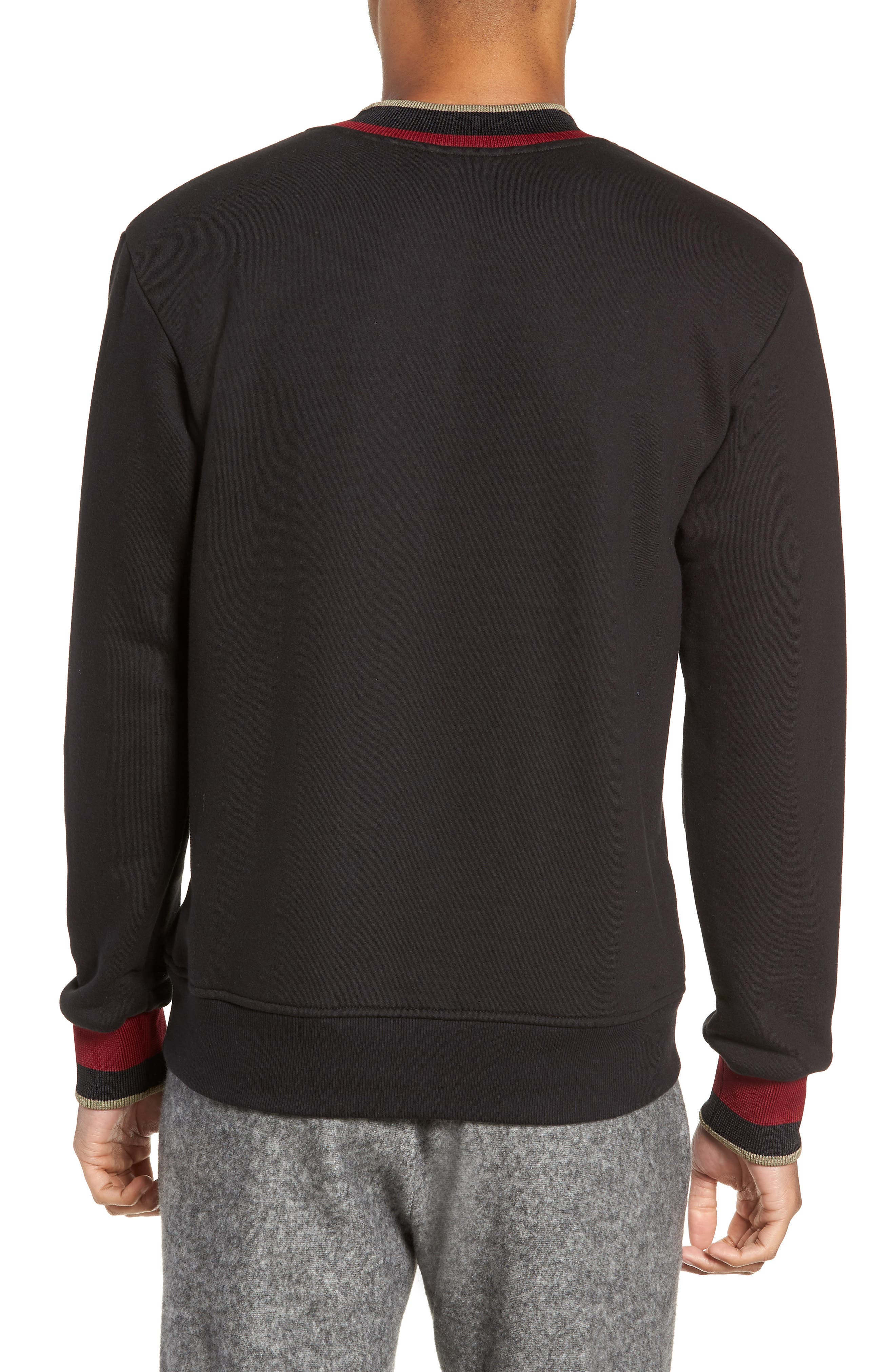 Pride Mock Neck Sweatshirt,                             Alternate thumbnail 2, color,                             JET BLACK