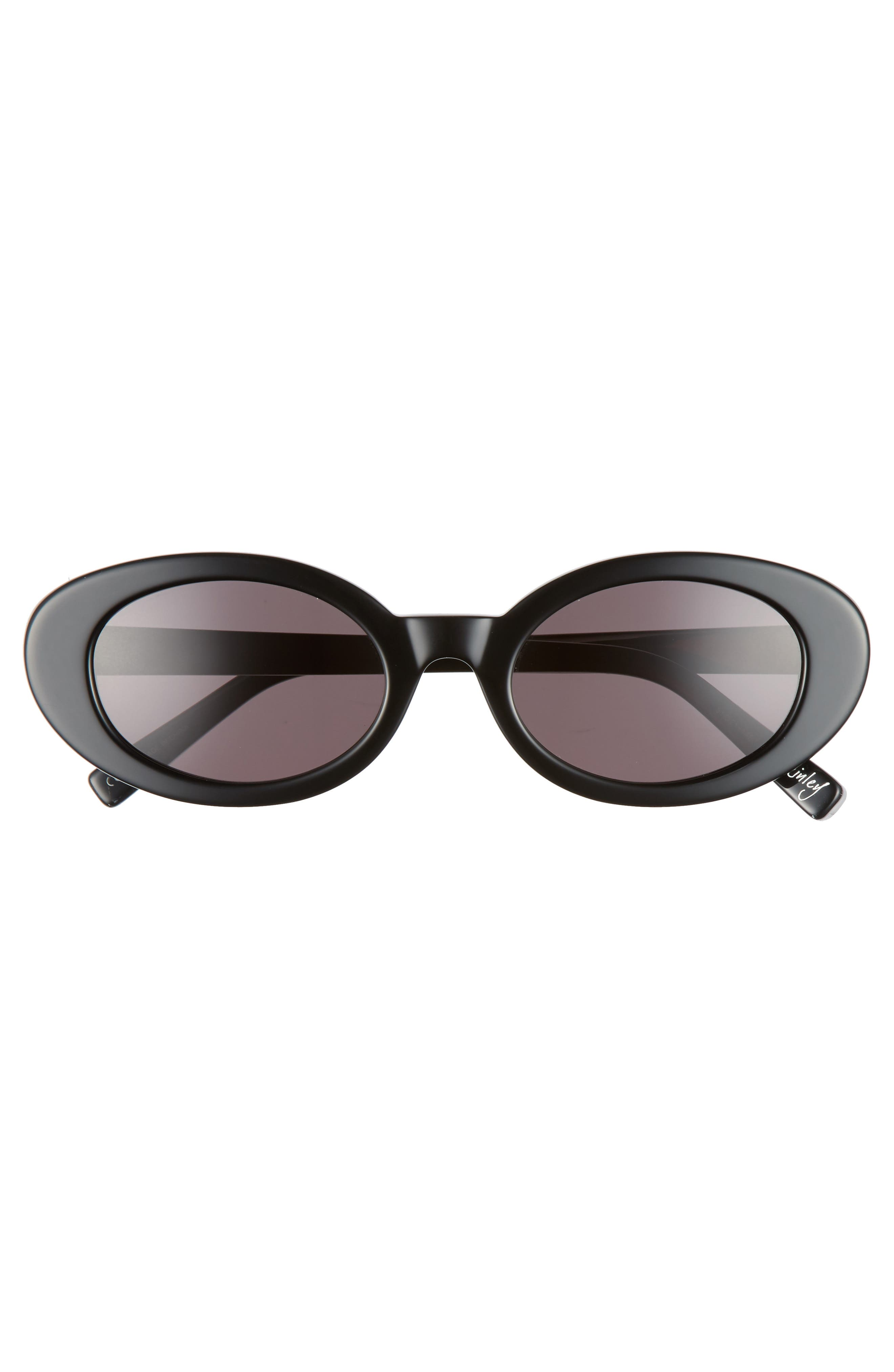 McKinely 51mm Oval Sunglasses,                             Alternate thumbnail 3, color,                             001