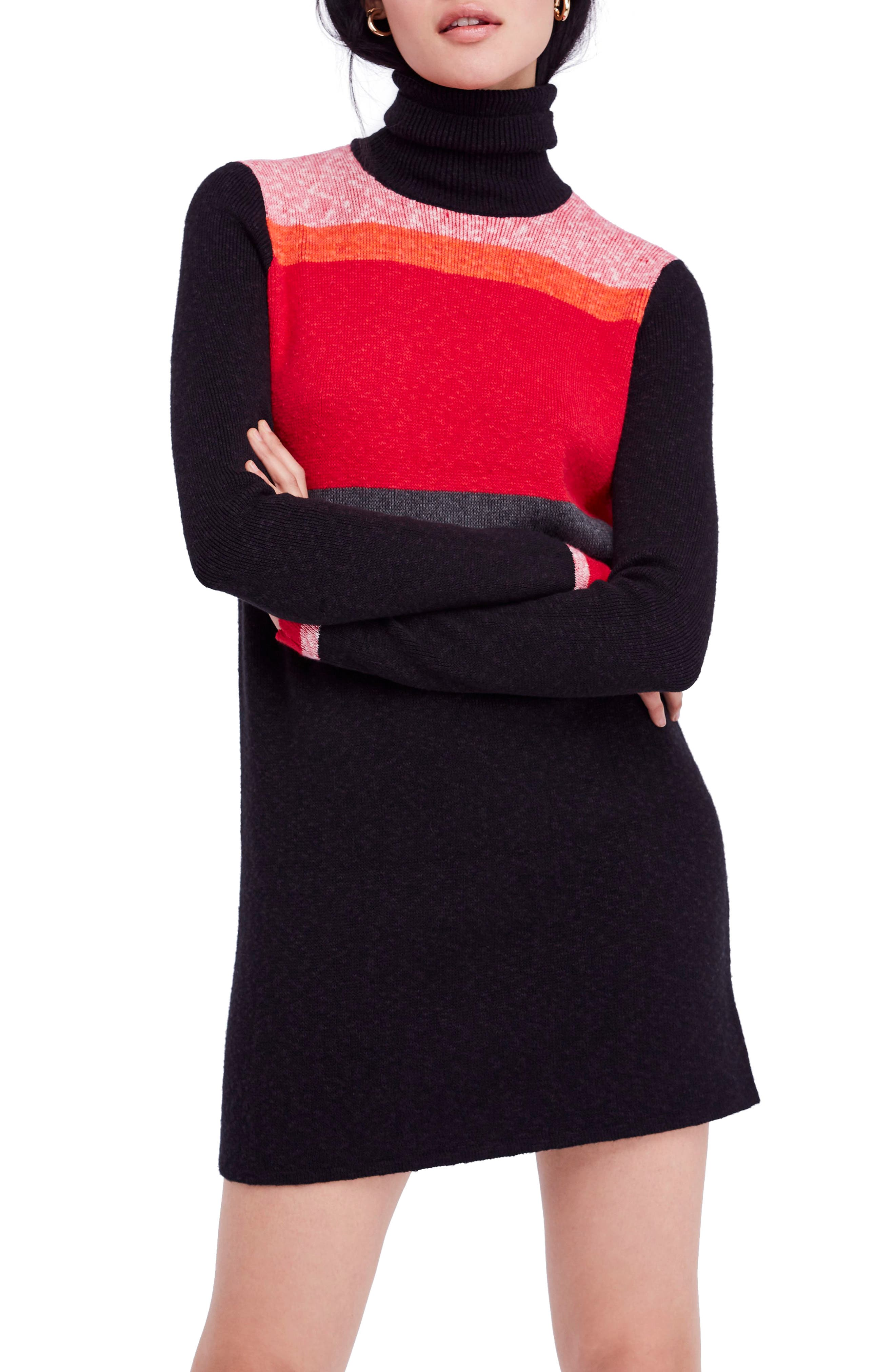 Winter Break Sweater Dress,                             Main thumbnail 1, color,                             001