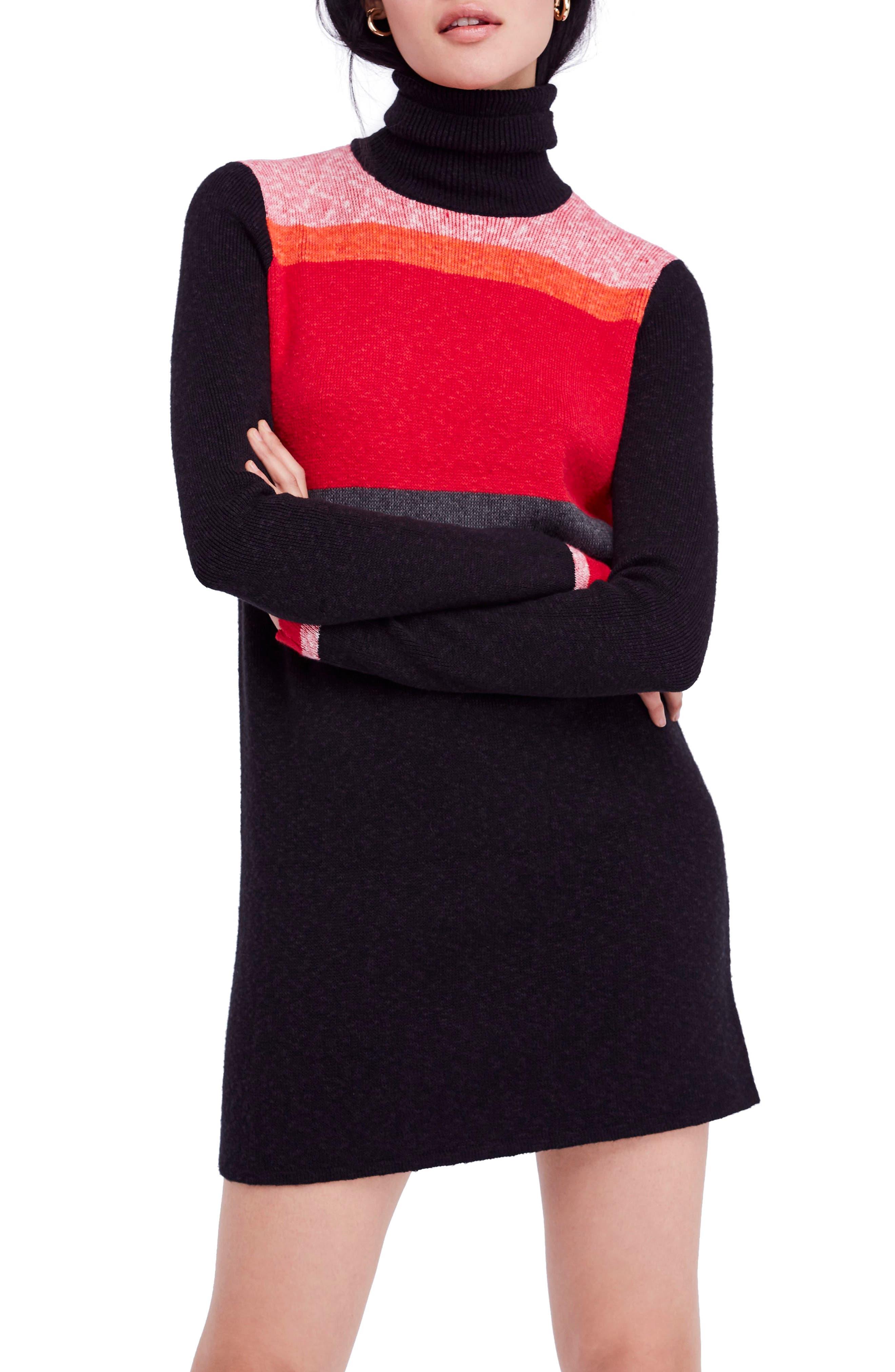 Winter Break Sweater Dress, Main, color, 001