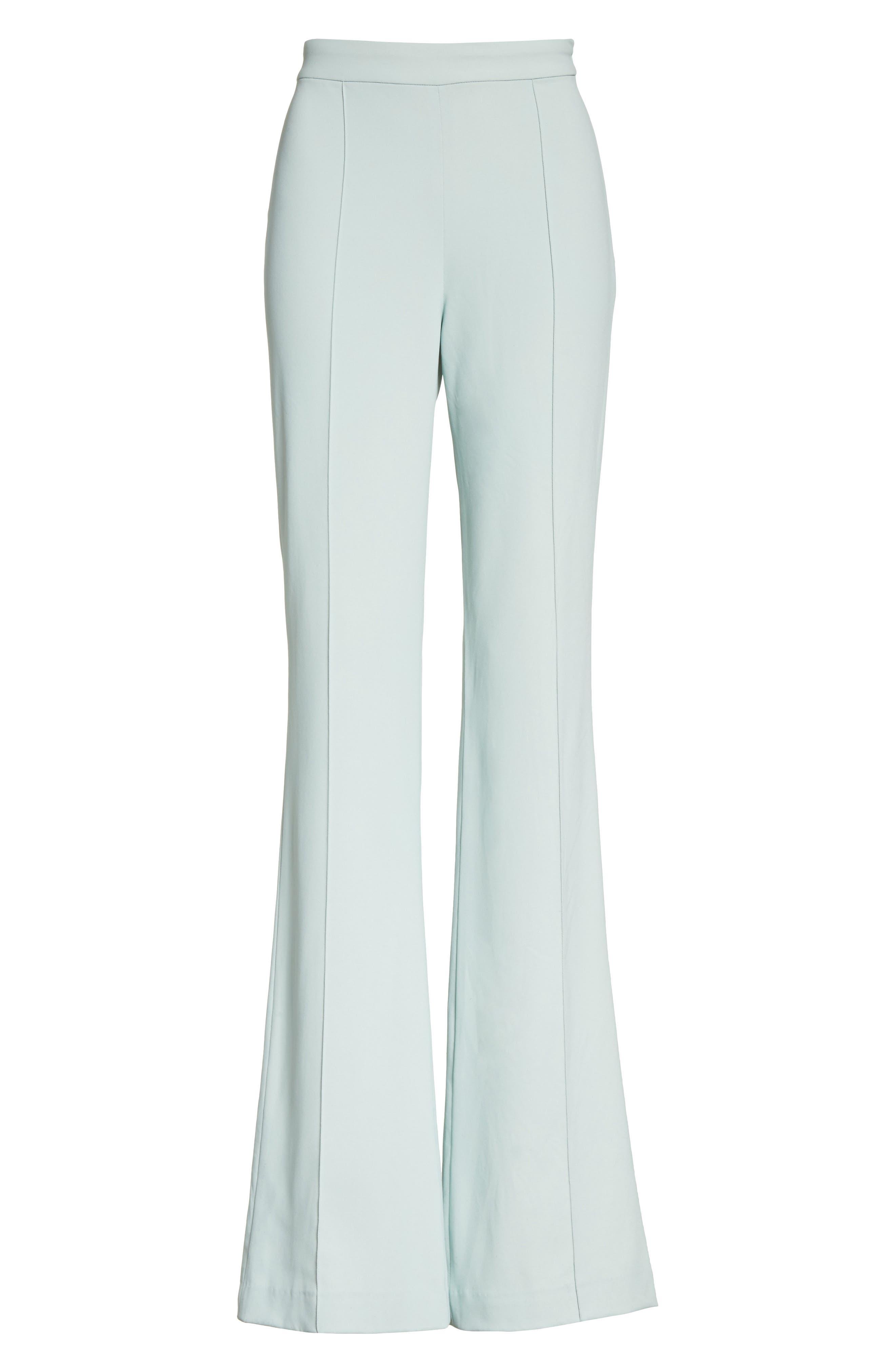 Jalisa High Waist Flared Leg Pants,                             Alternate thumbnail 6, color,                             404
