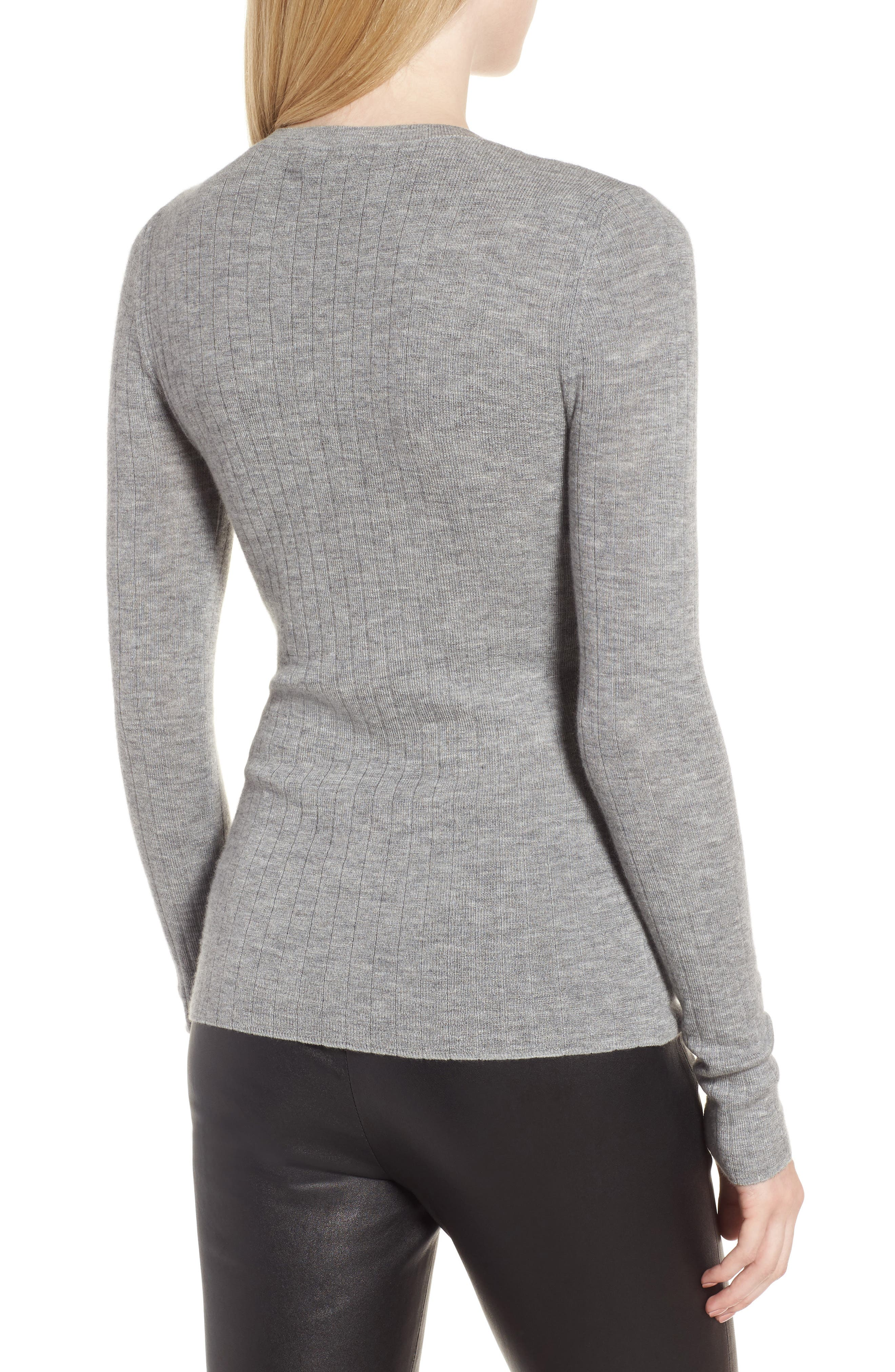 Ribbed Cashmere Sweater,                             Alternate thumbnail 2, color,                             030