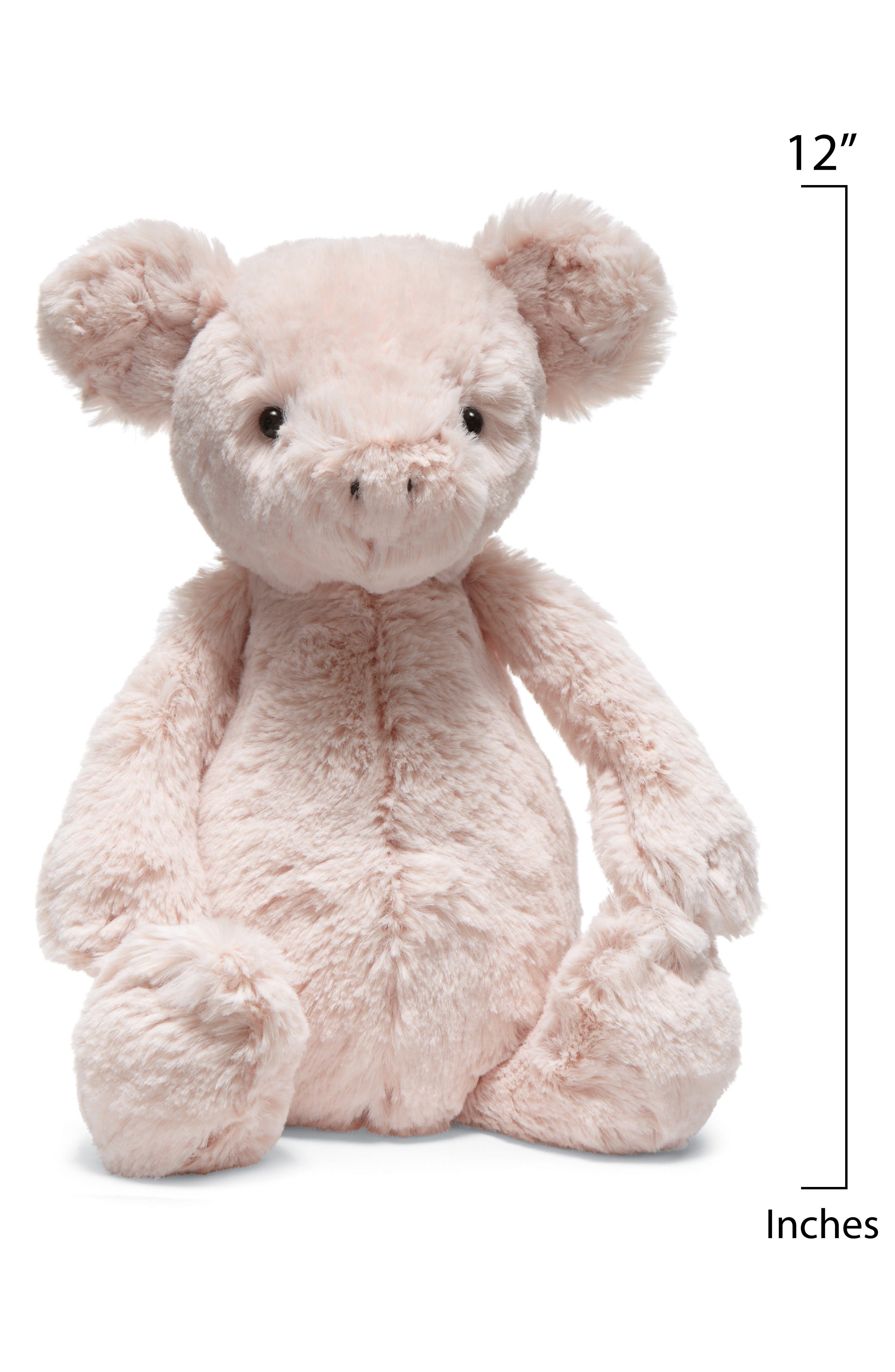 'Bashful Piggy' Stuffed Animal,                             Alternate thumbnail 3, color,                             PINK
