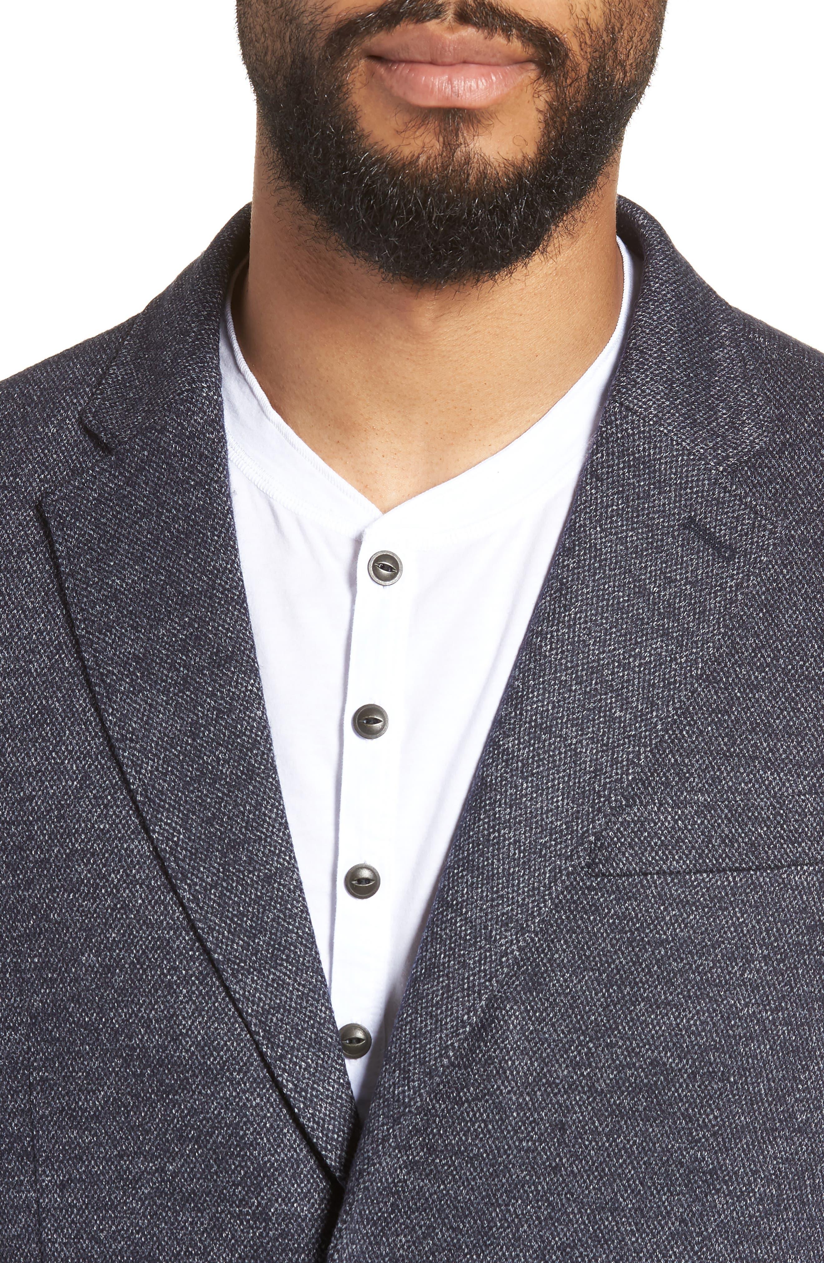 Slim Fit Soft Blazer,                             Alternate thumbnail 4, color,                             NAVY