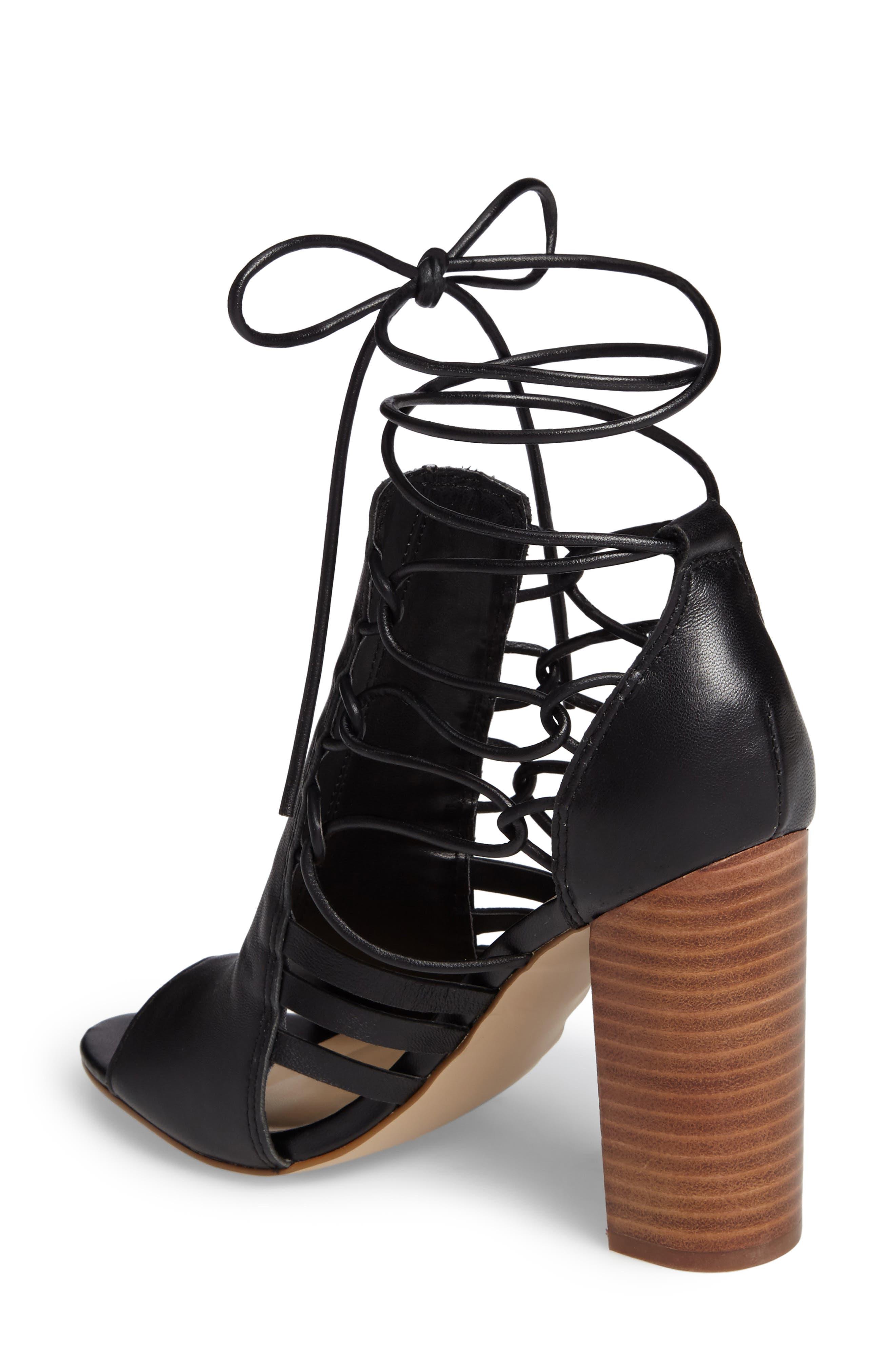 Adette Ankle Tie Sandal,                             Alternate thumbnail 2, color,                             001
