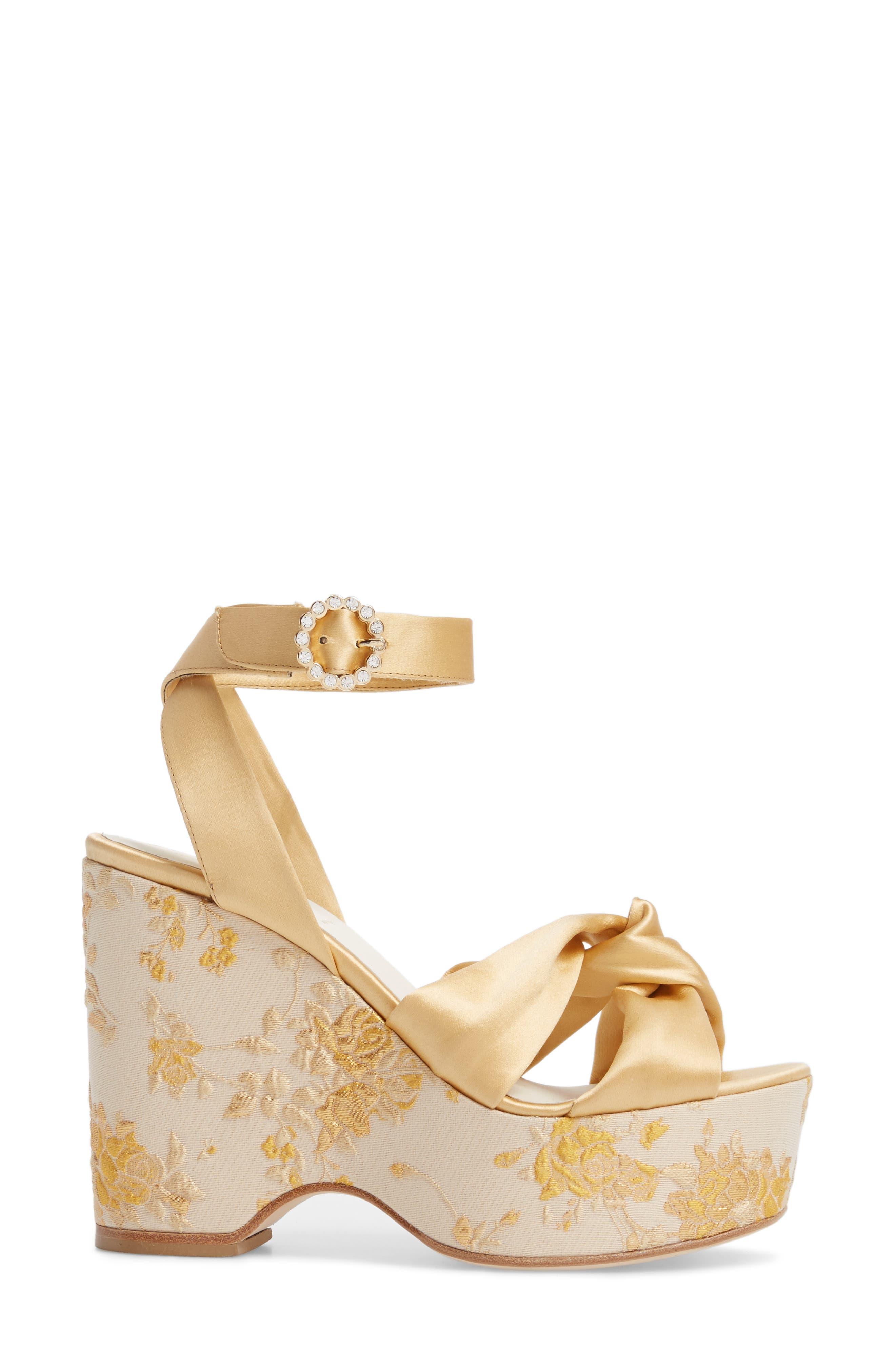 Serena Brocade Platform Sandal,                             Alternate thumbnail 11, color,