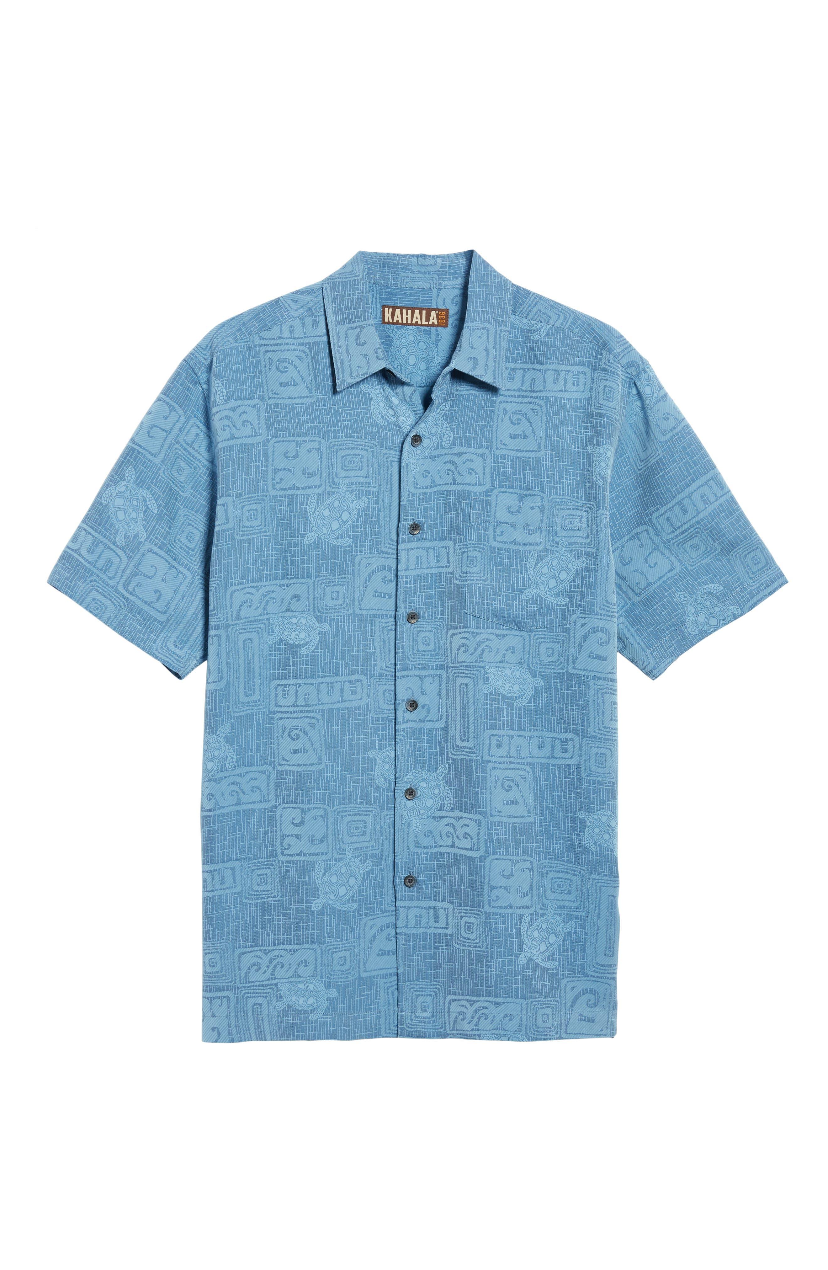 Sea Shells Classic Fit Sport Shirt,                             Alternate thumbnail 18, color,
