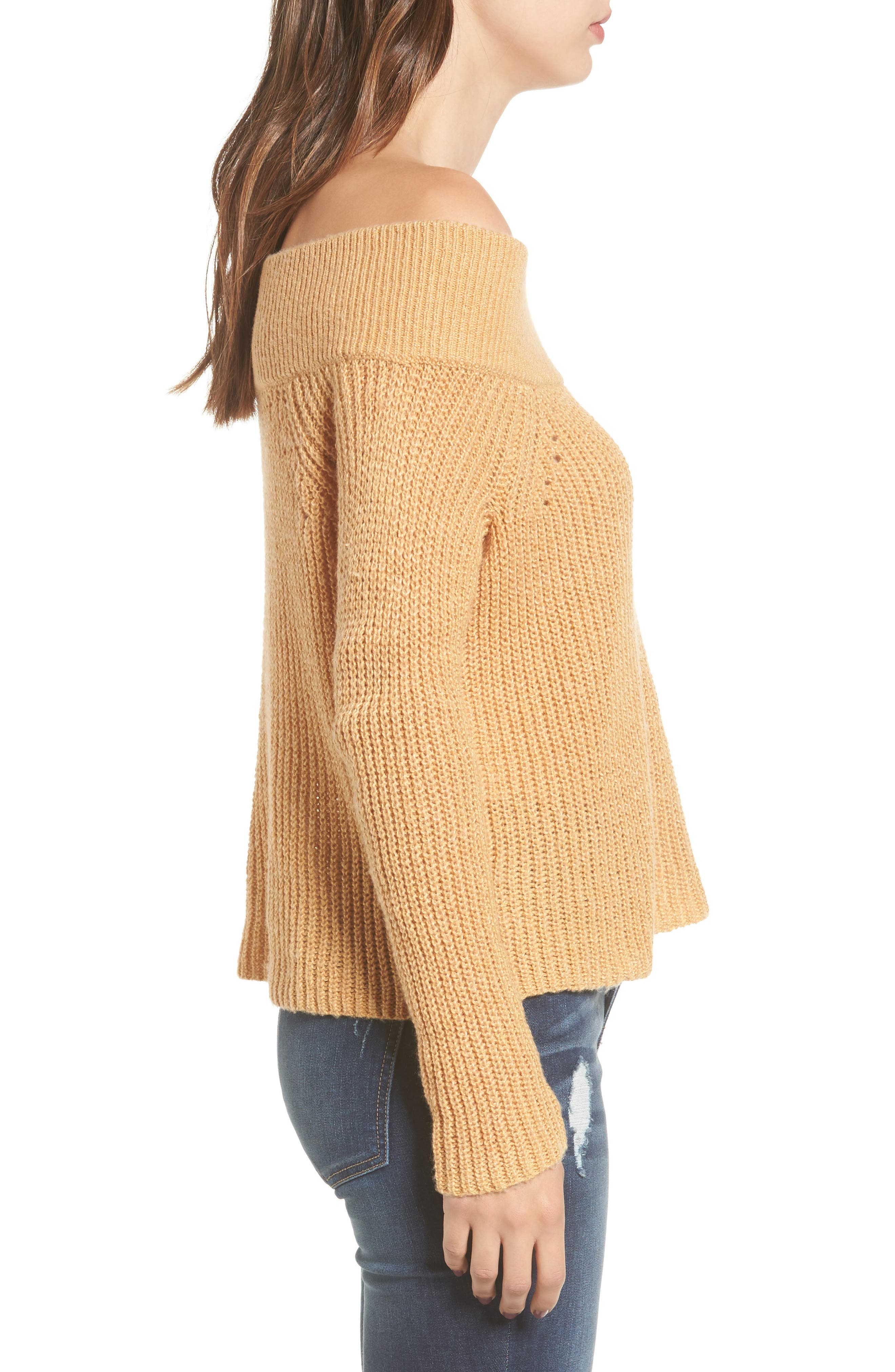 Lofty Off the Shoulder Pullover,                             Alternate thumbnail 3, color,                             235