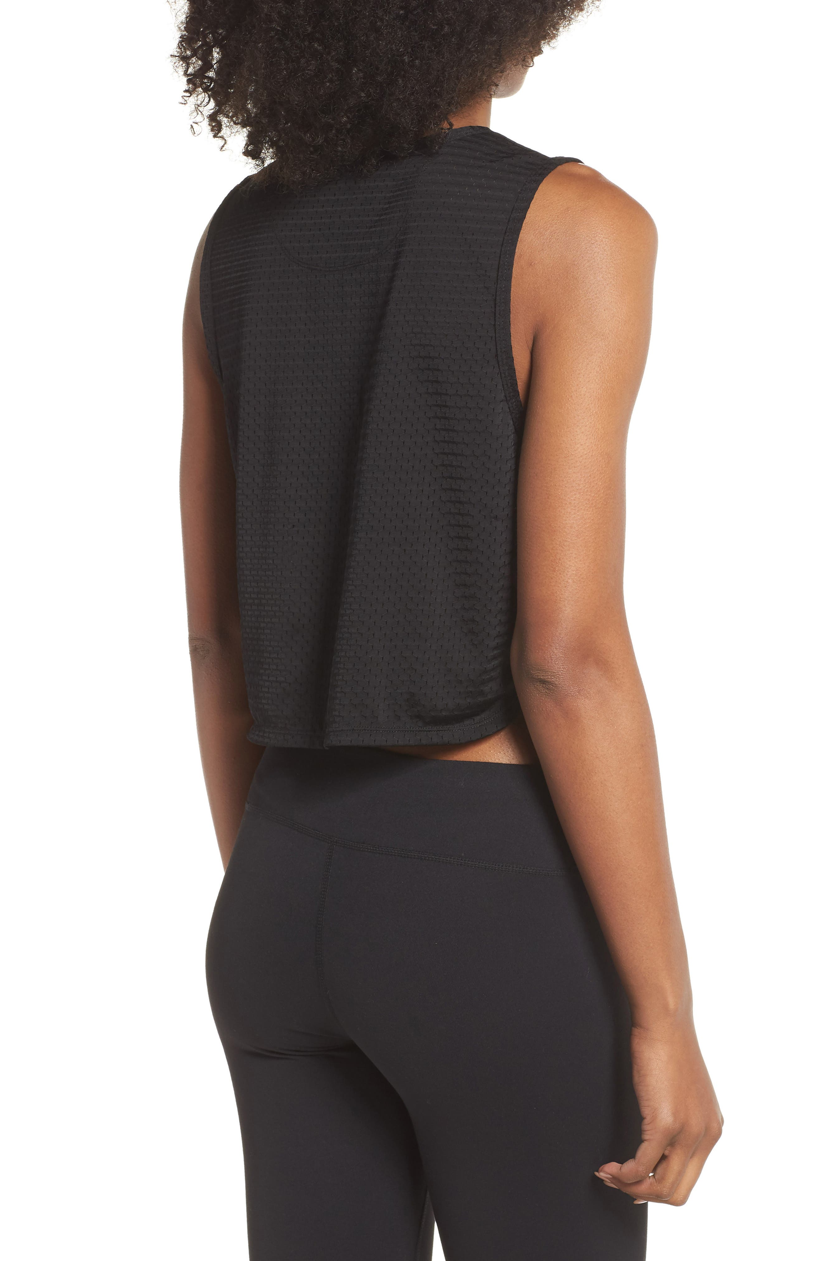 Leona Crop Tank,                             Alternate thumbnail 2, color,                             BLACK