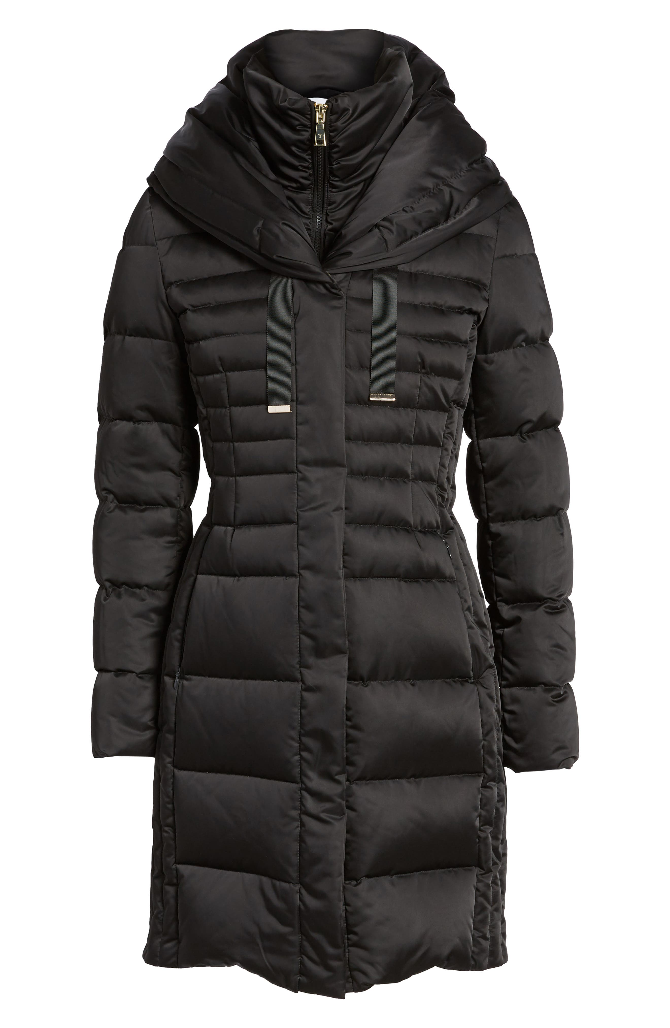 Mia Down & Feather Fill Coat,                             Alternate thumbnail 5, color,                             001