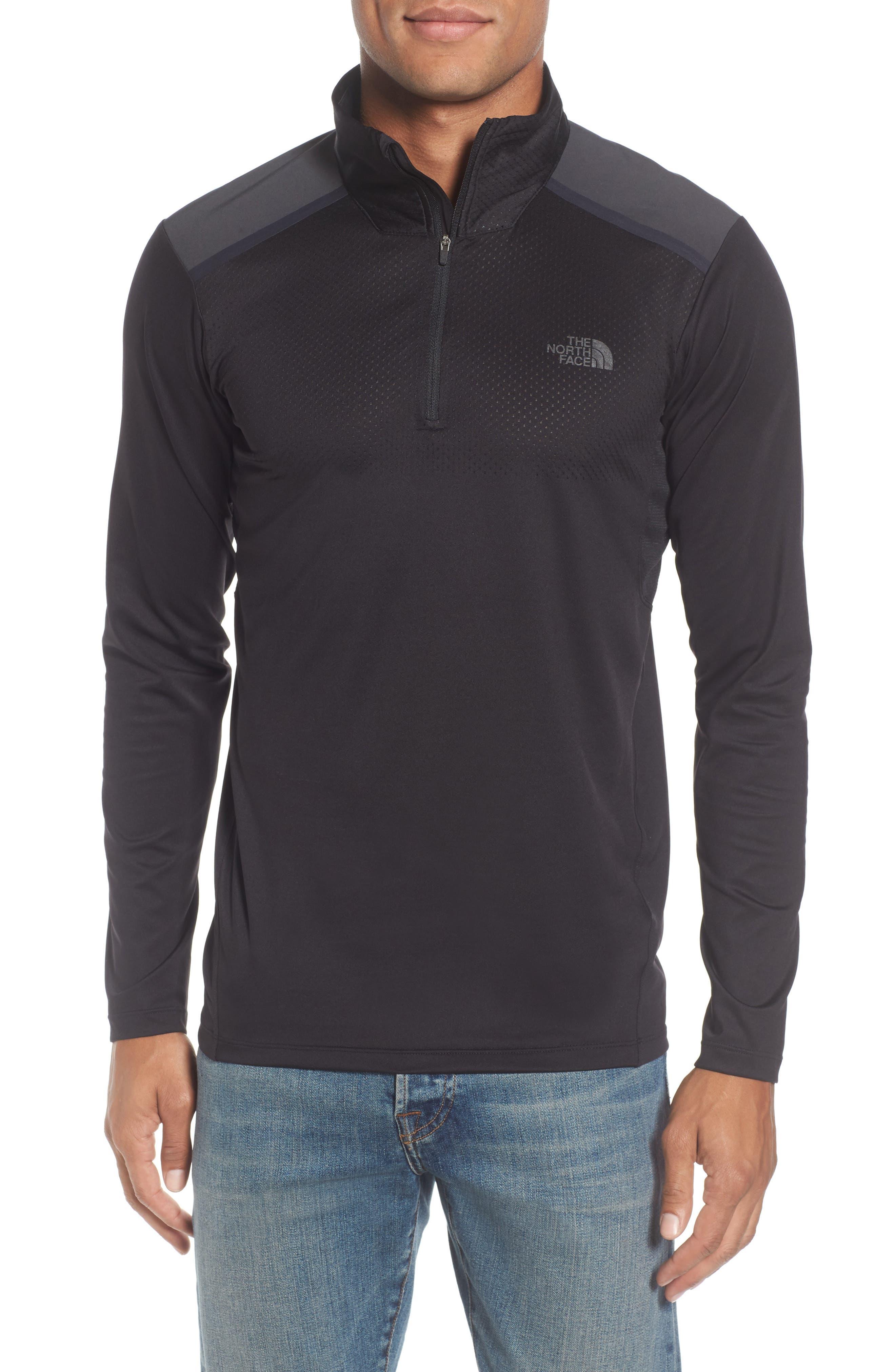 'Kilowatt' Quarter Zip Training Pullover,                         Main,                         color, 001