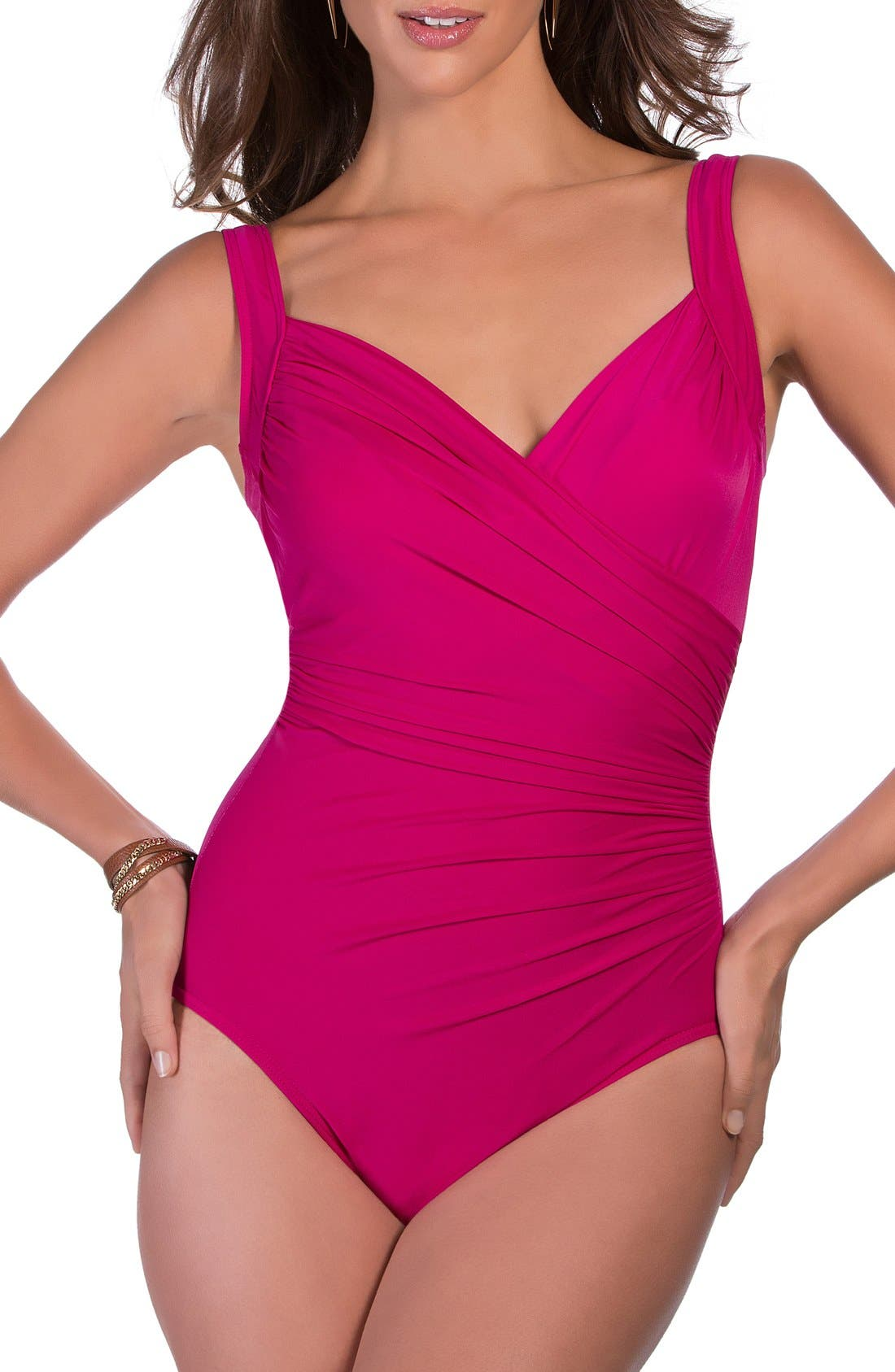 'Sanibel' Underwire One-Piece Swimsuit,                             Main thumbnail 7, color,