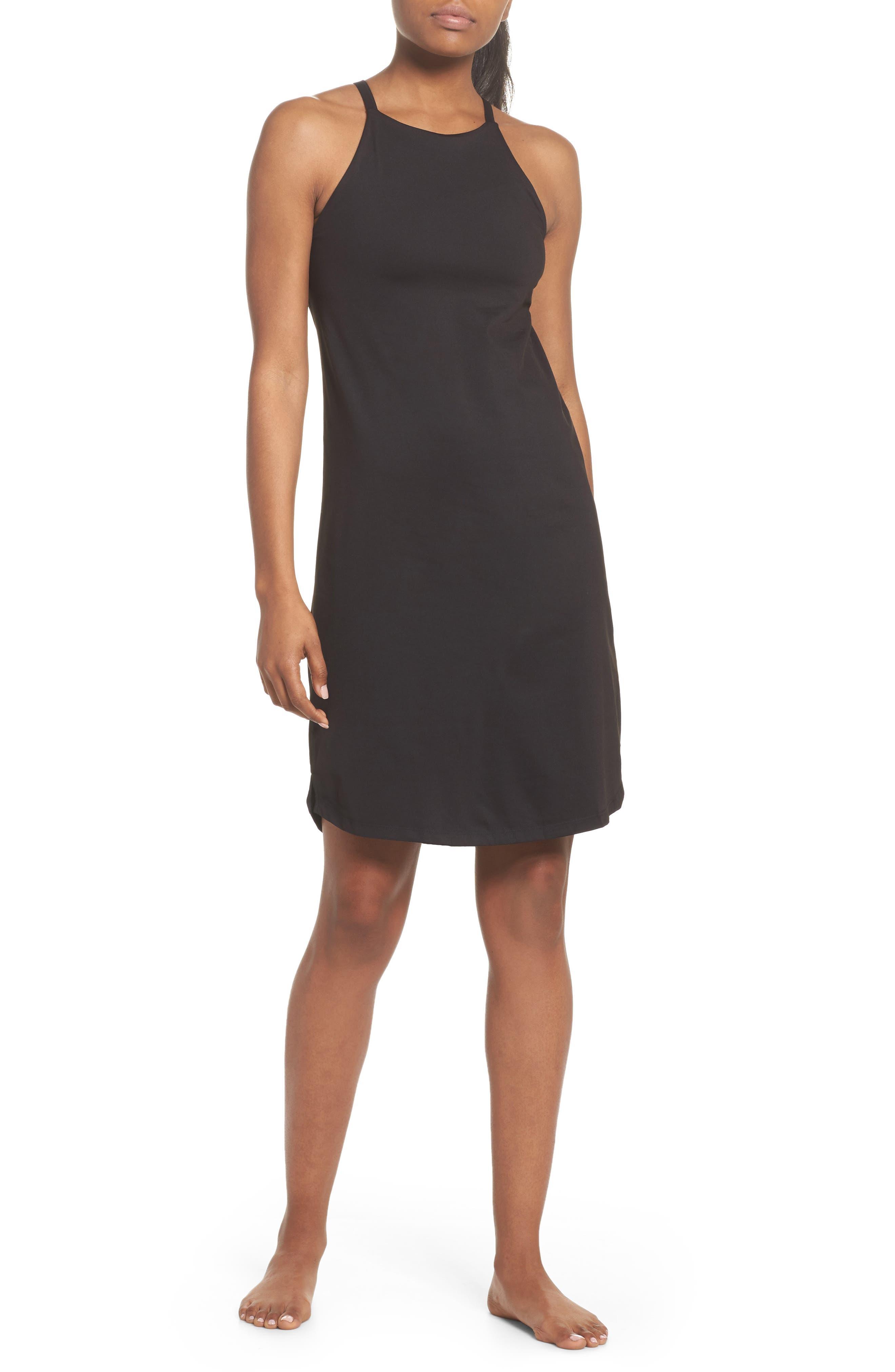 Sliding Rock Dress,                         Main,                         color, BLACK