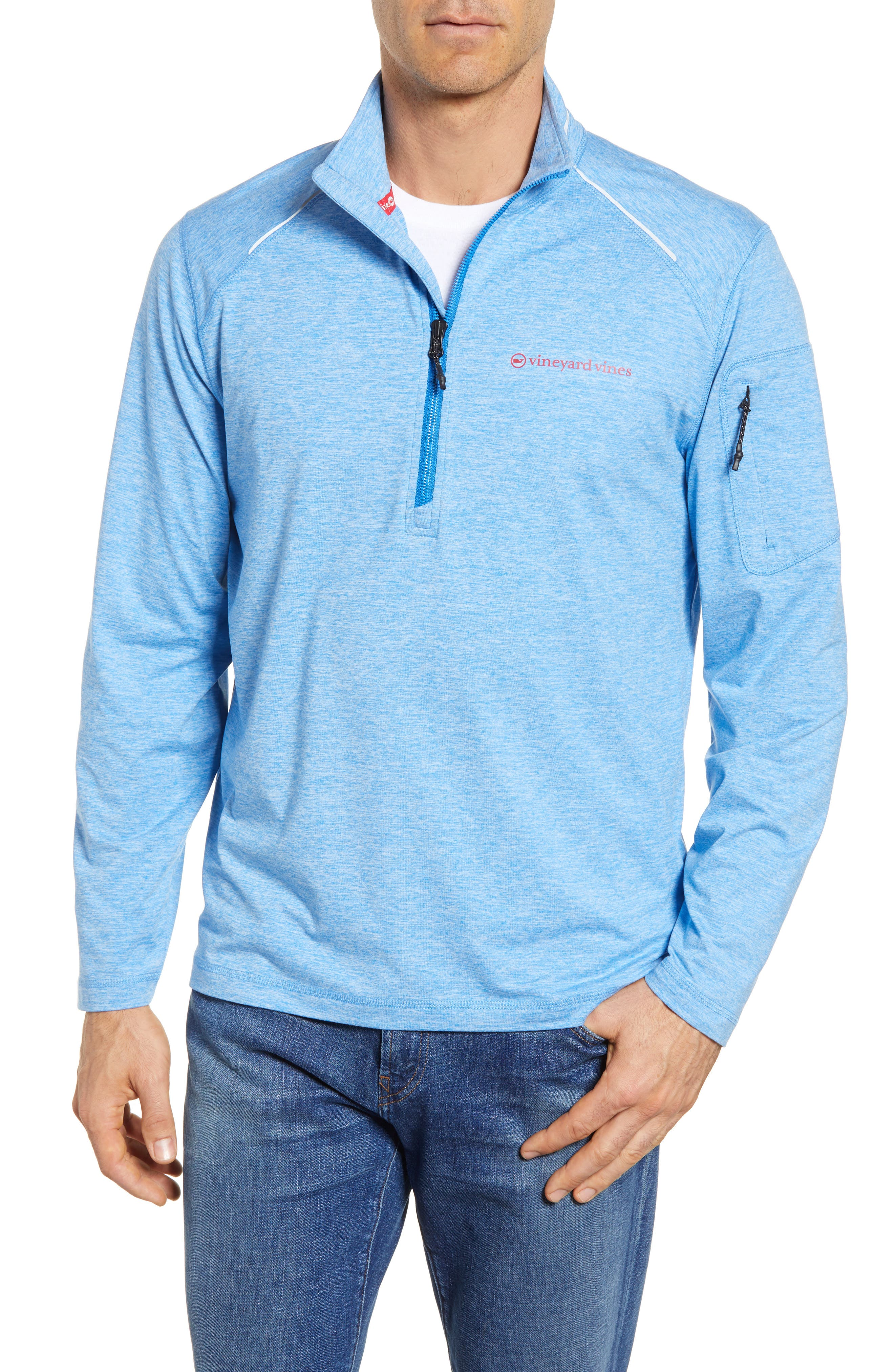 Performance Half Zip Pullover,                             Main thumbnail 2, color,