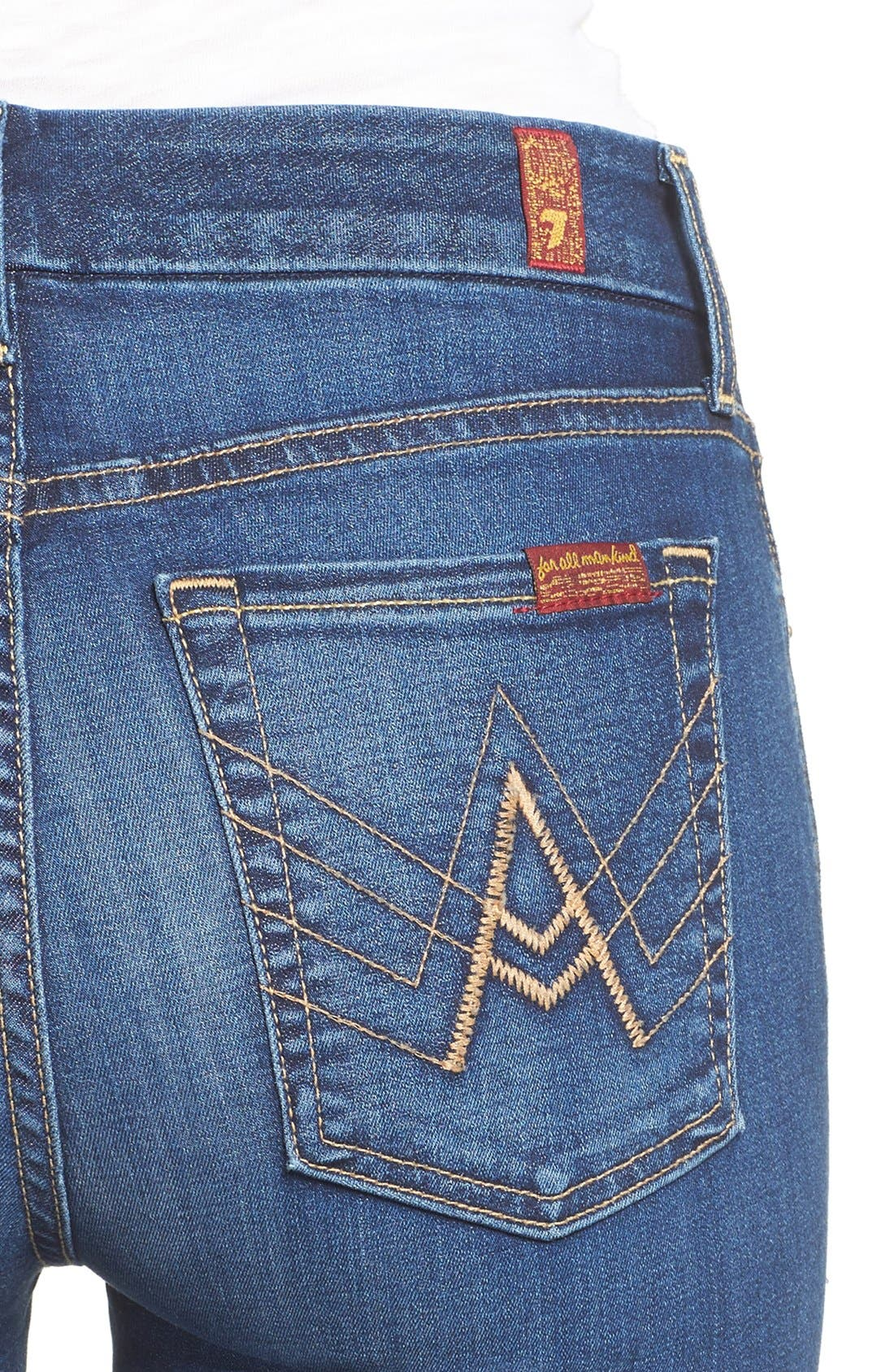 'b(air) - A Pocket' Flare Jeans,                             Alternate thumbnail 16, color,