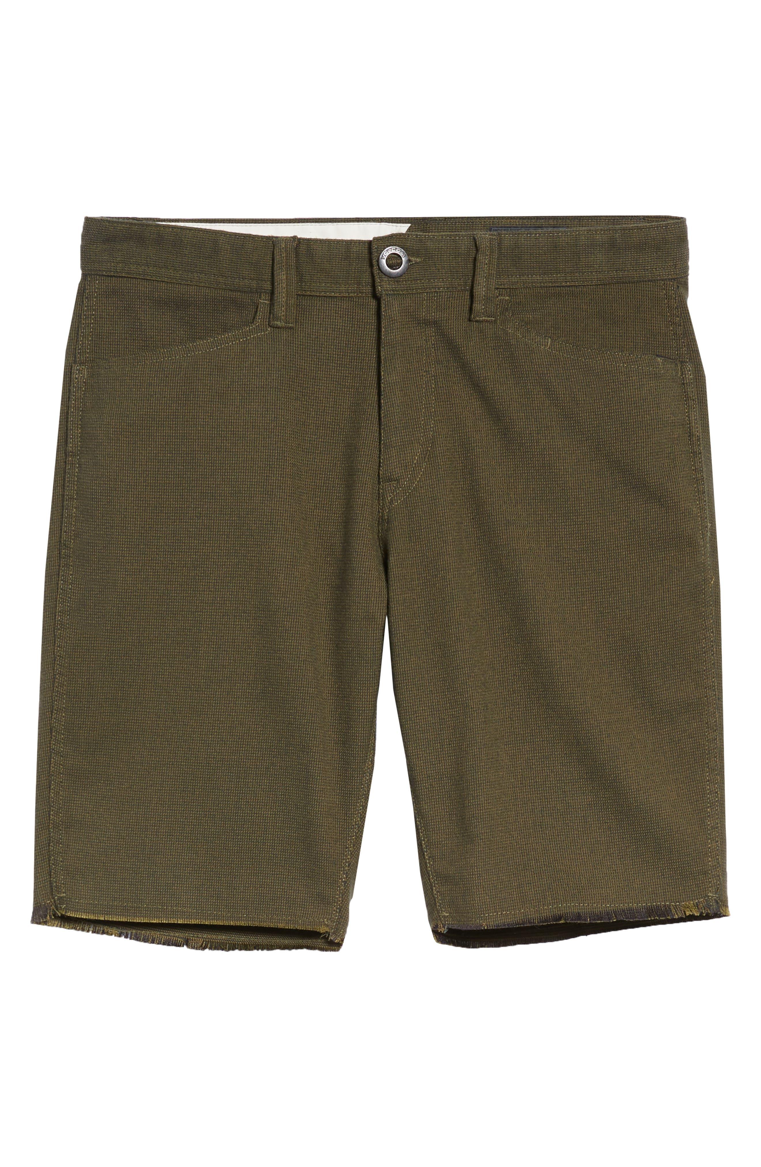 Gritter Thrifter Shorts,                             Alternate thumbnail 6, color,                             GREENTEA